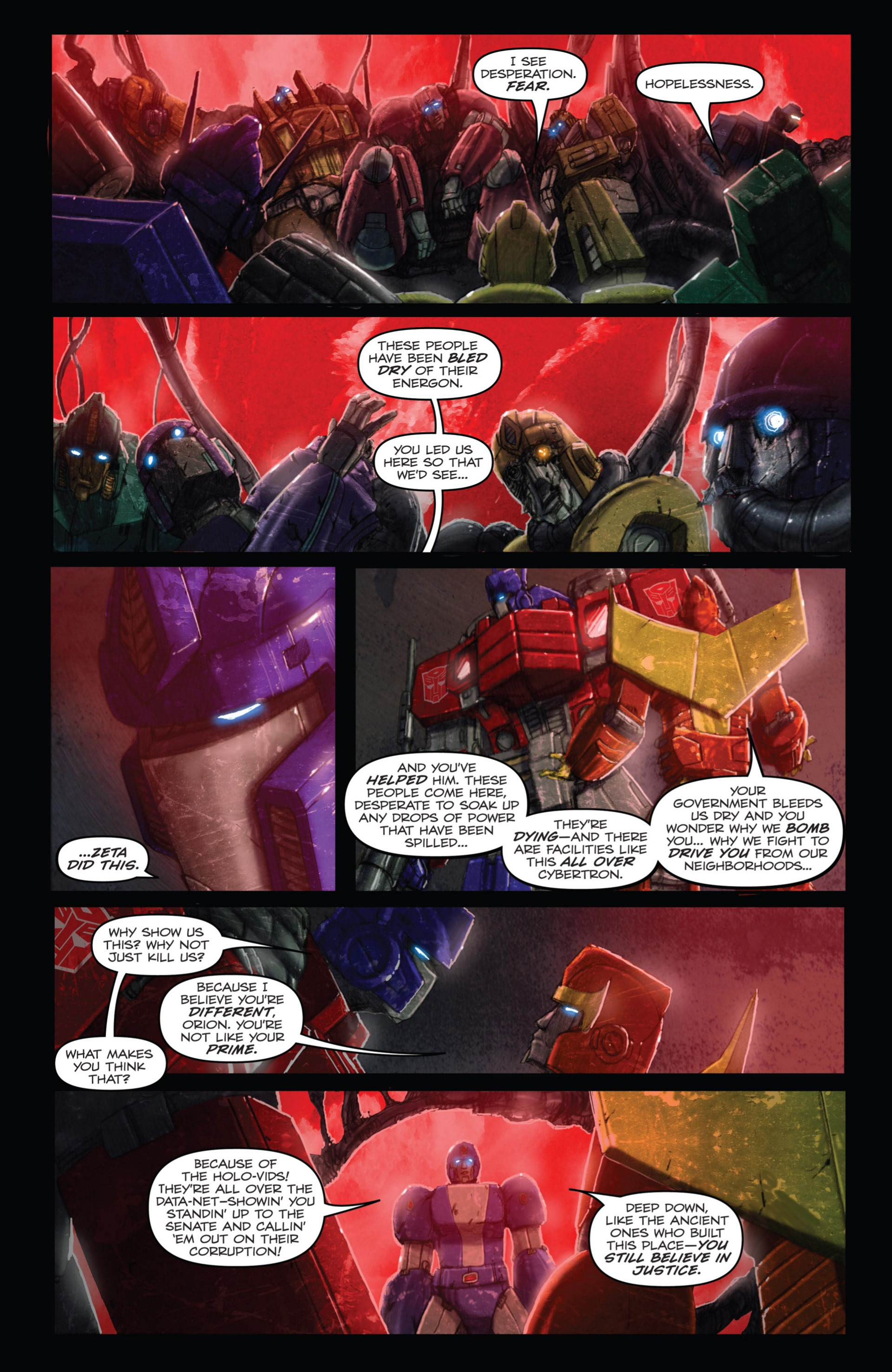 Read online Transformers: Autocracy comic -  Issue # Full - 50