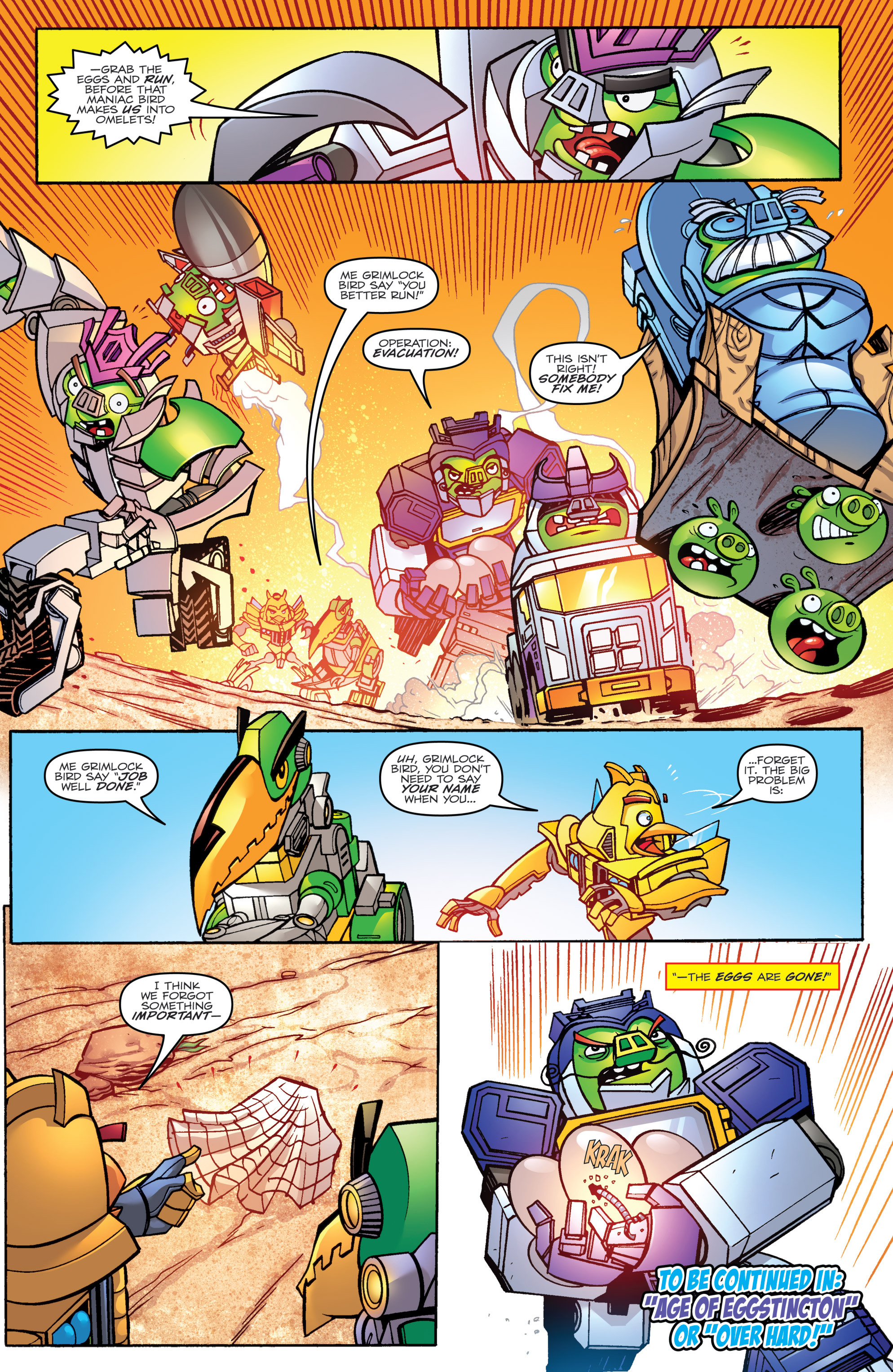 Read online Angry Birds Transformers comic -  Issue #1 - 22