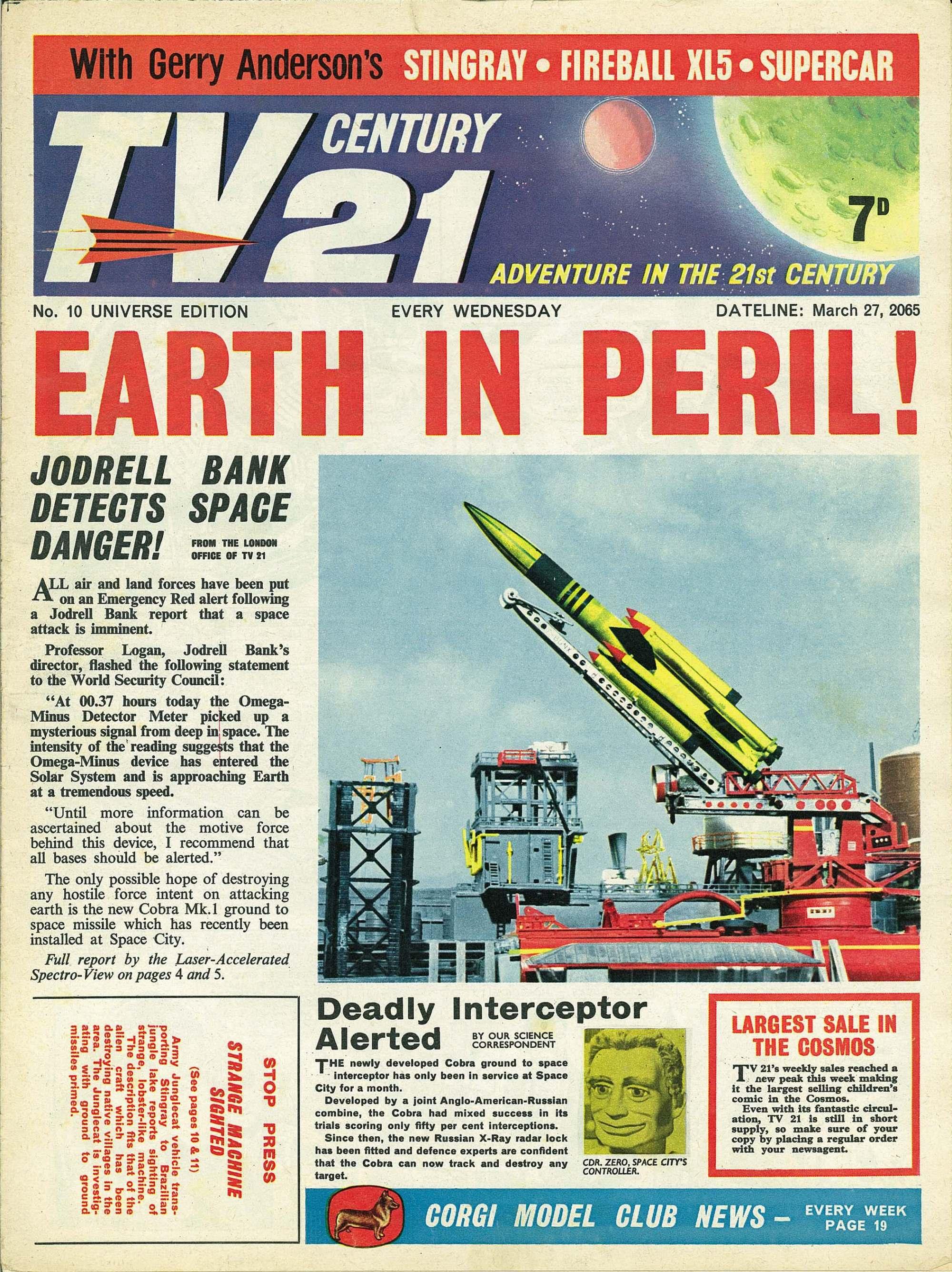 Read online TV Century 21 (TV 21) comic -  Issue #10 - 1