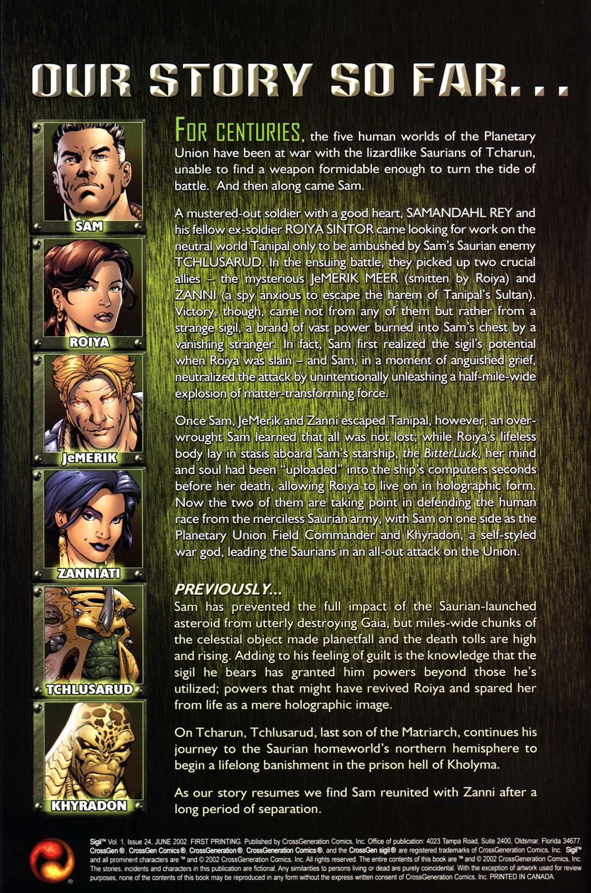 Read online Sigil (2000) comic -  Issue #24 - 2