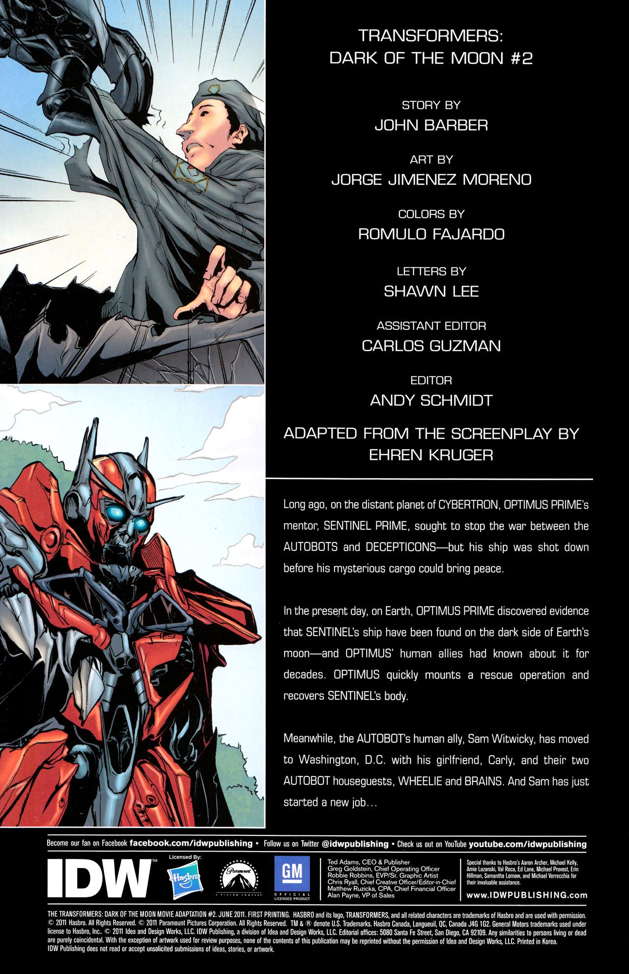 Read online Transformers: Dark of the Moon Movie Adaptation comic -  Issue #2 - 2