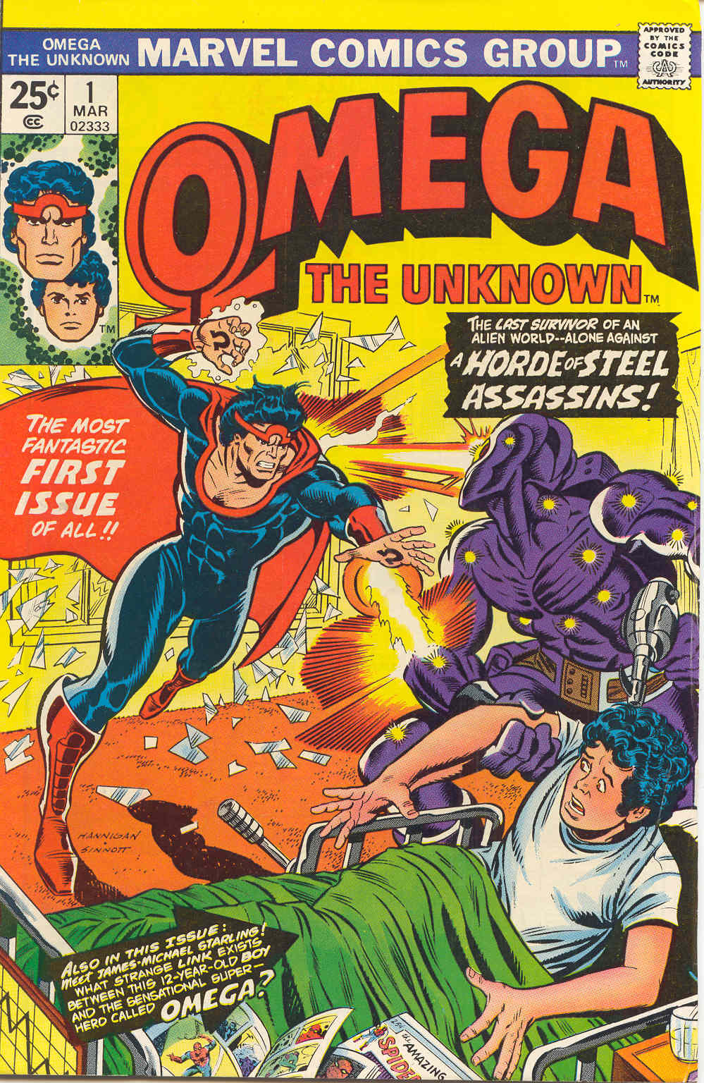 Omega the Unknown (1976) issue 1 - Page 1