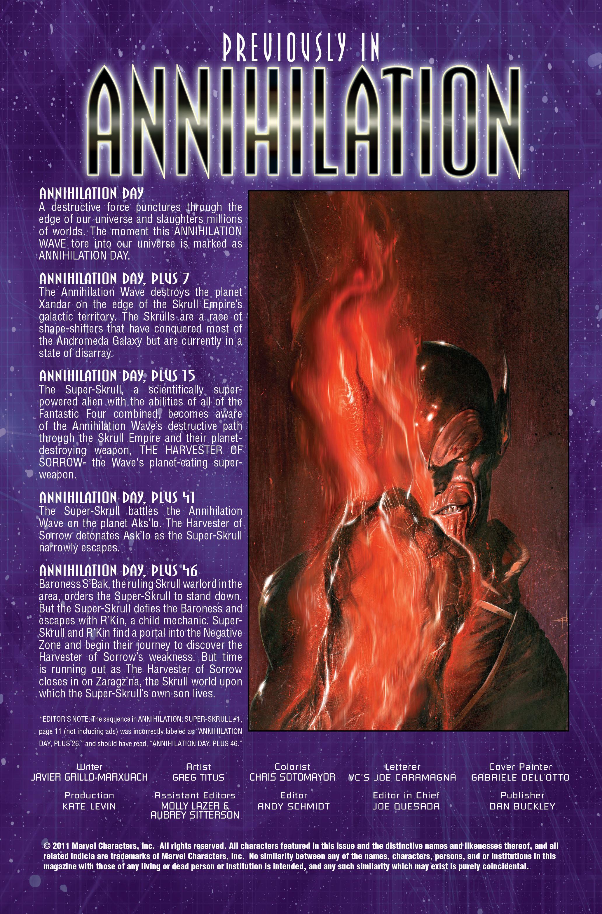 Read online Annihilation: Super-Skrull comic -  Issue #2 - 2