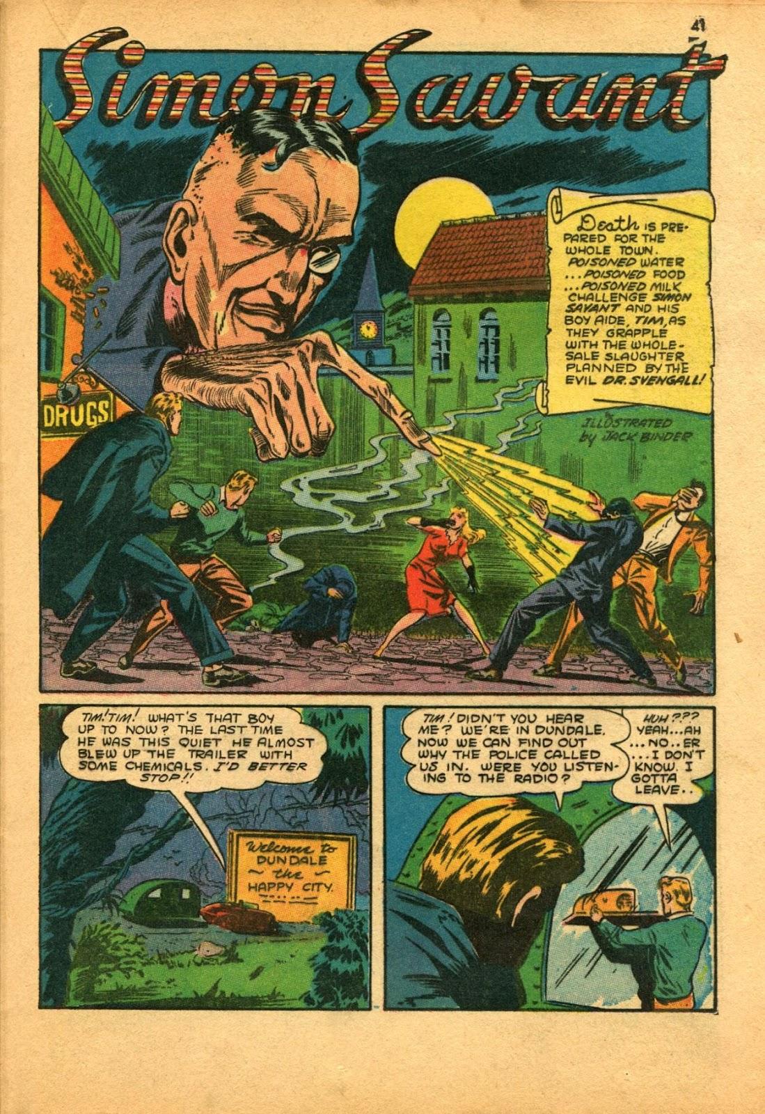 Read online Super-Magician Comics comic -  Issue #11 - 41