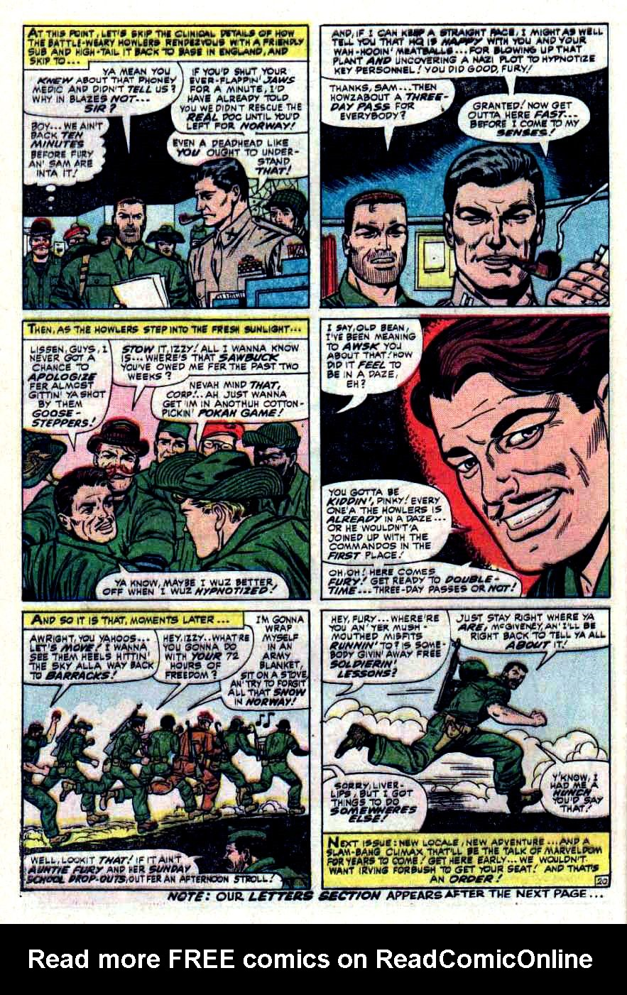 Read online Sgt. Fury comic -  Issue #32 - 28