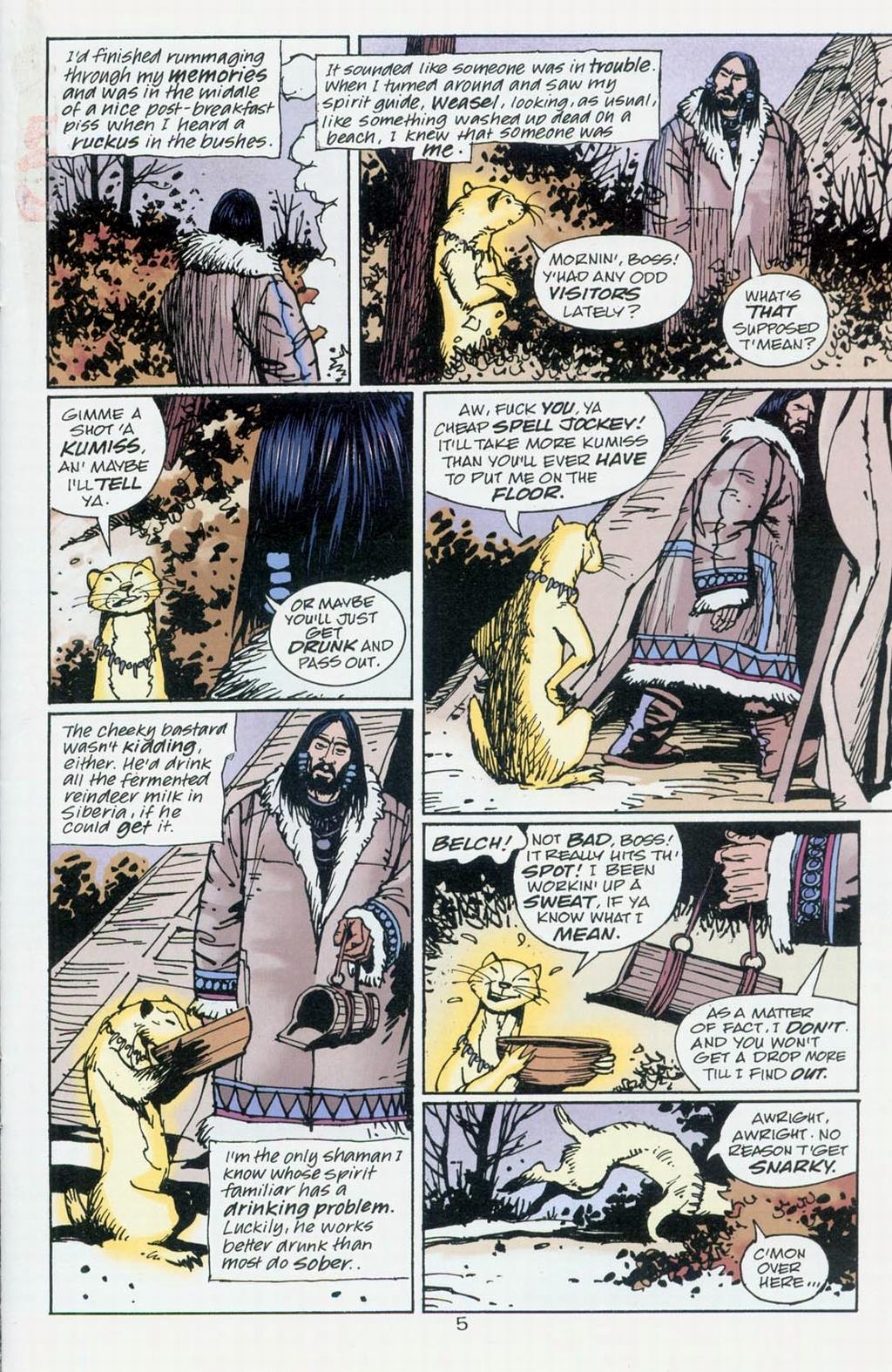Muktuk Wolfsbreath: Hard-Boiled Shaman issue 1 - Page 5