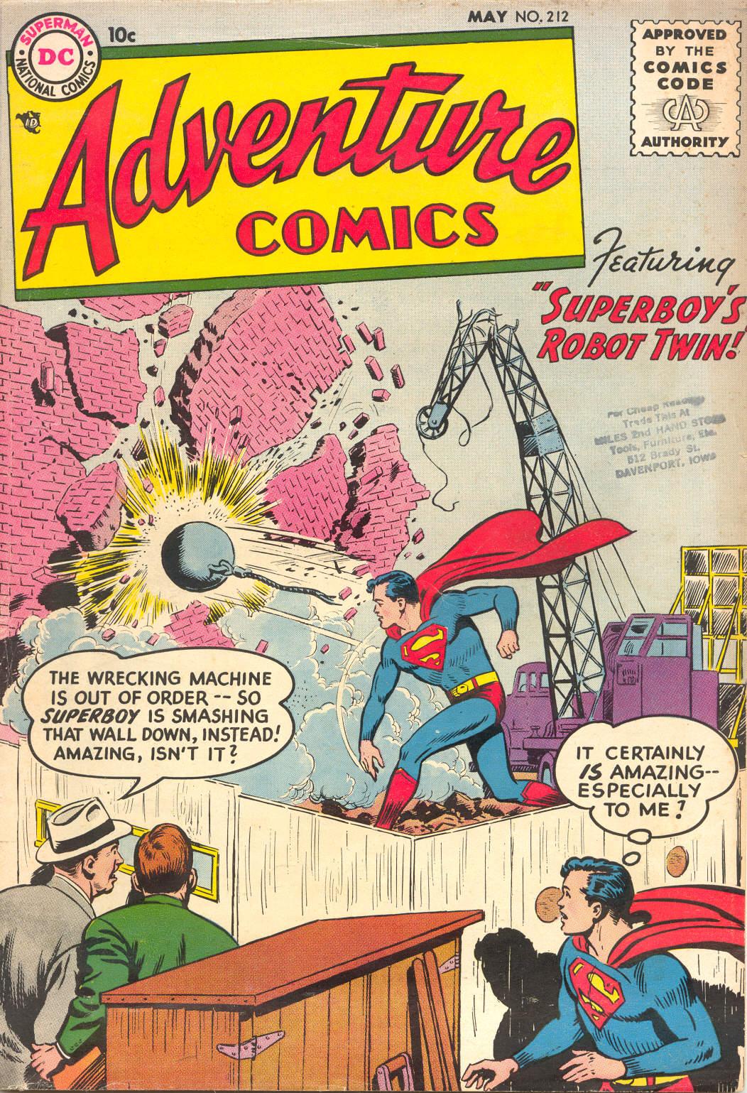Read online Adventure Comics (1938) comic -  Issue #212 - 1