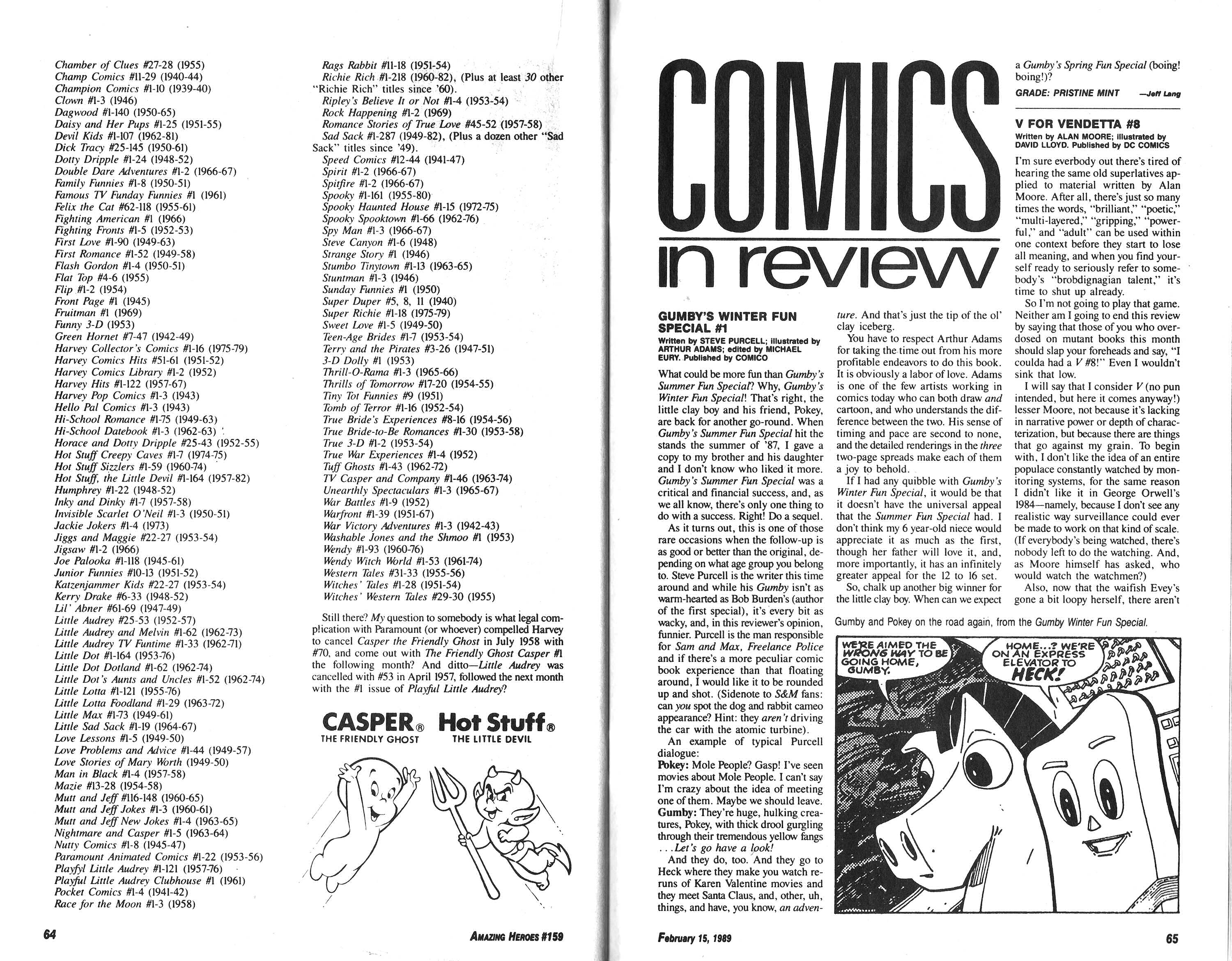 Read online Amazing Heroes comic -  Issue #159 - 33