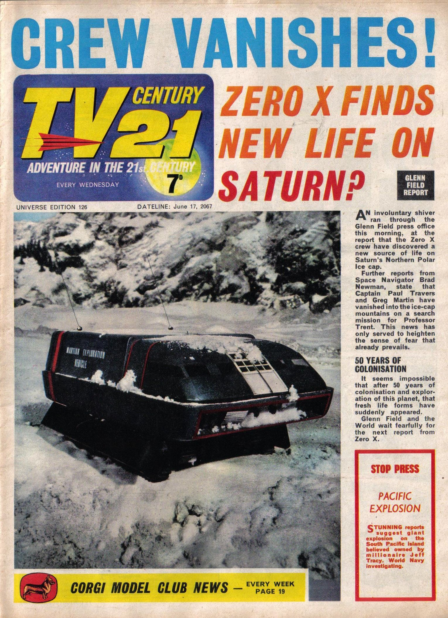 Read online TV Century 21 (TV 21) comic -  Issue #126 - 1