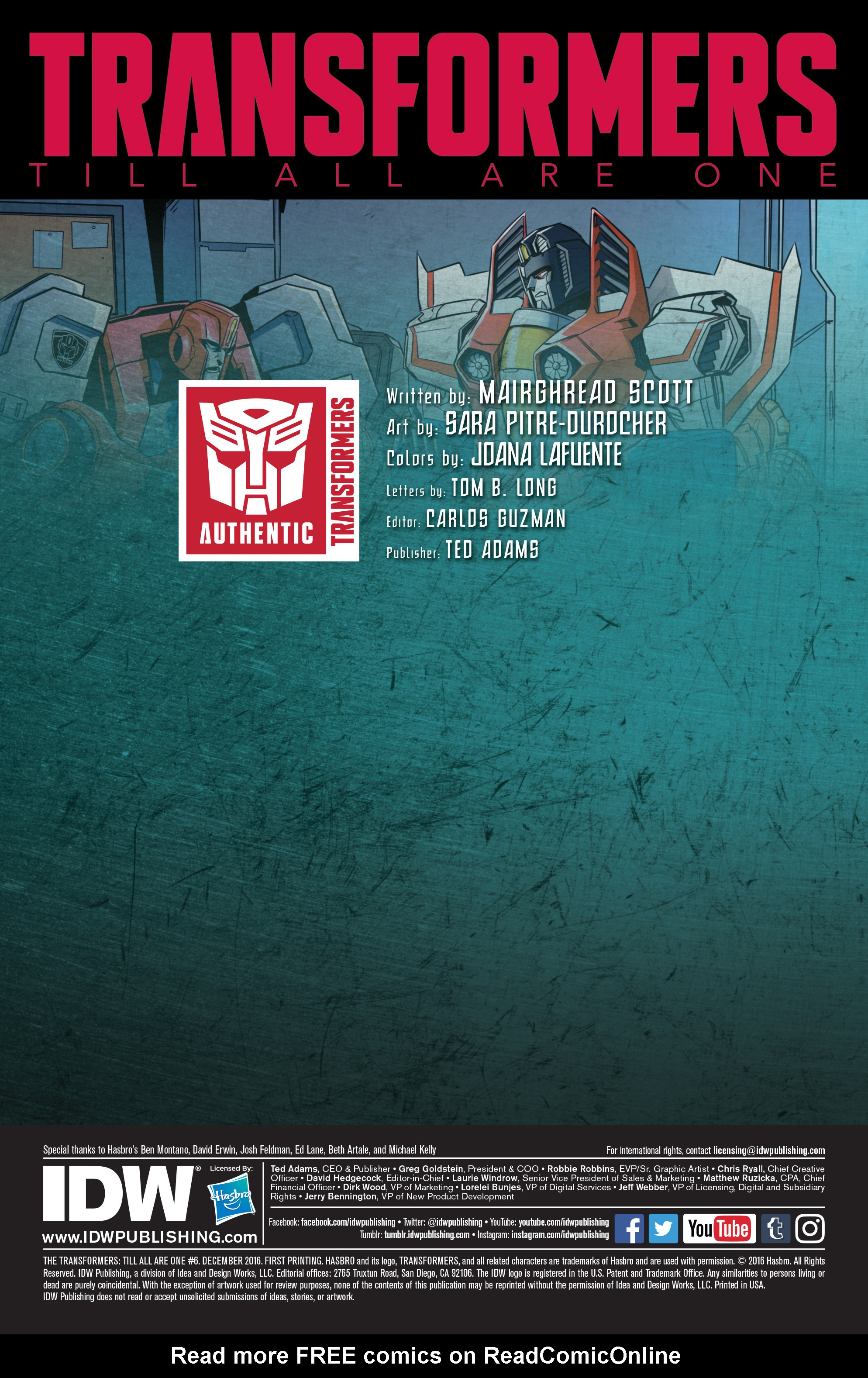 Read online Transformers: Till All Are One comic -  Issue #6 - 2