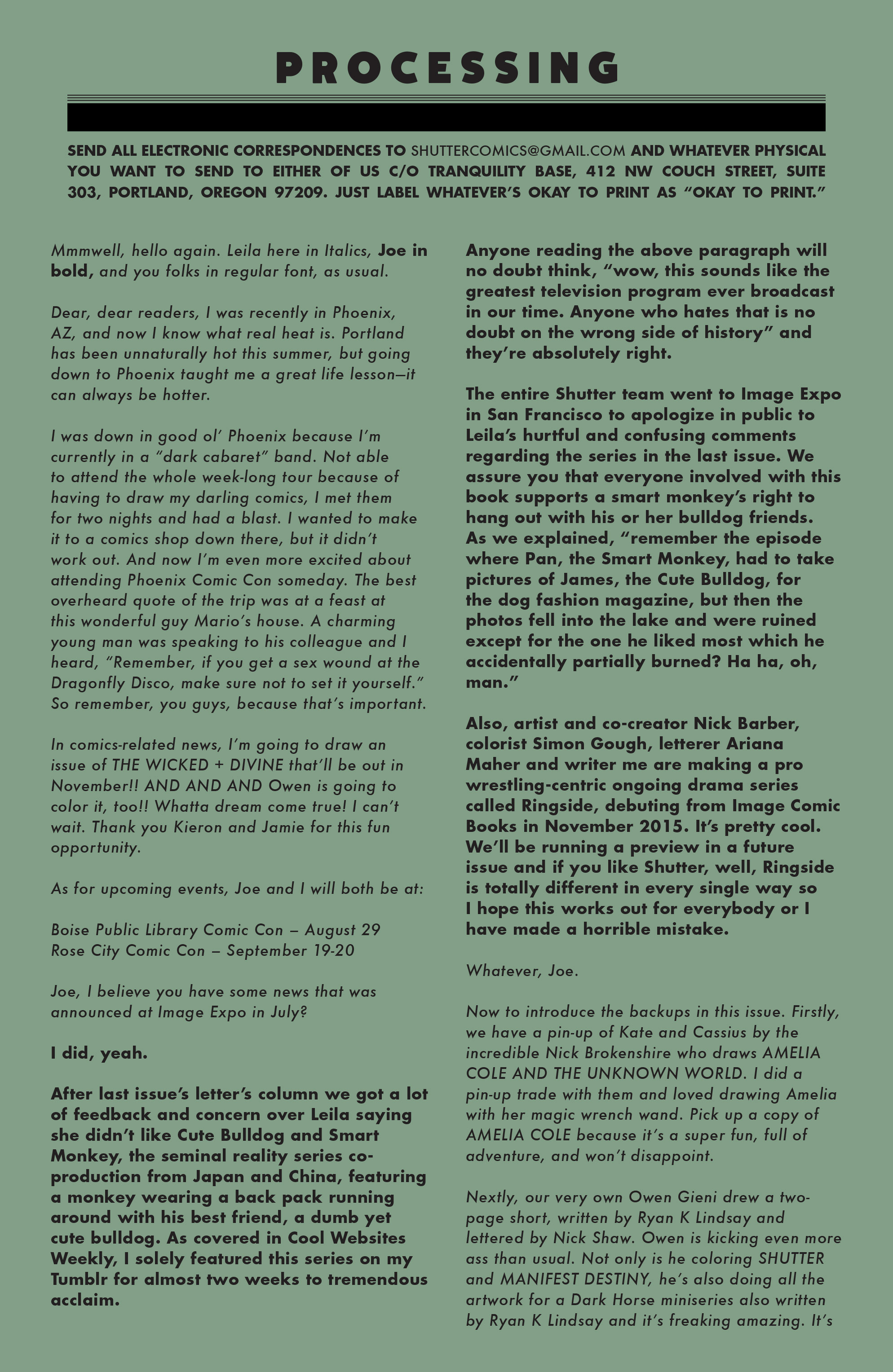 Read online Shutter comic -  Issue #14 - 21