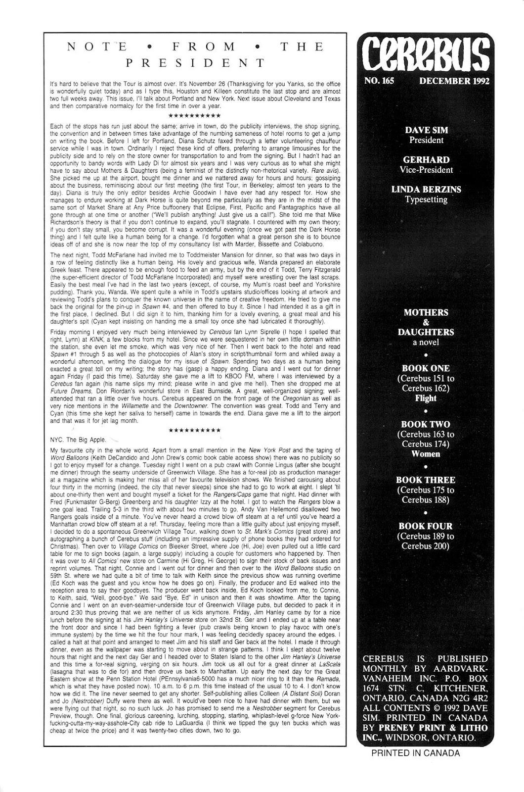 Cerebus Issue #165 #164 - English 2