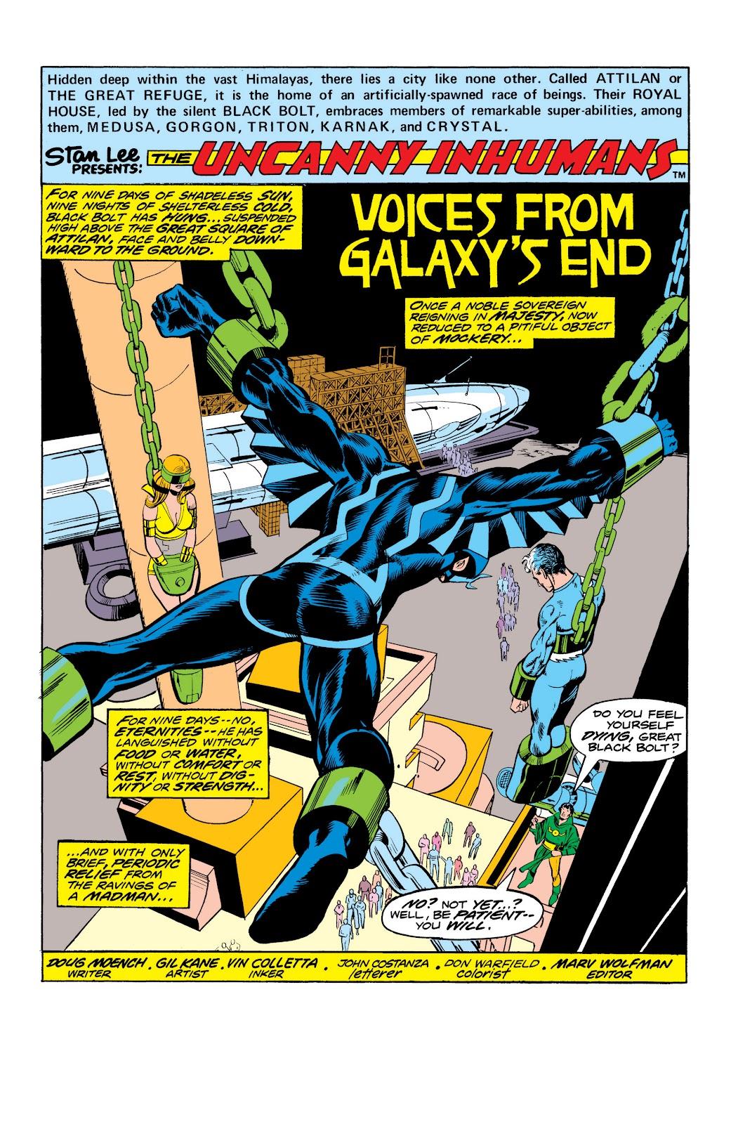 Read online Marvel Masterworks: The Inhumans comic -  Issue # TPB 2 (Part 1) - 83