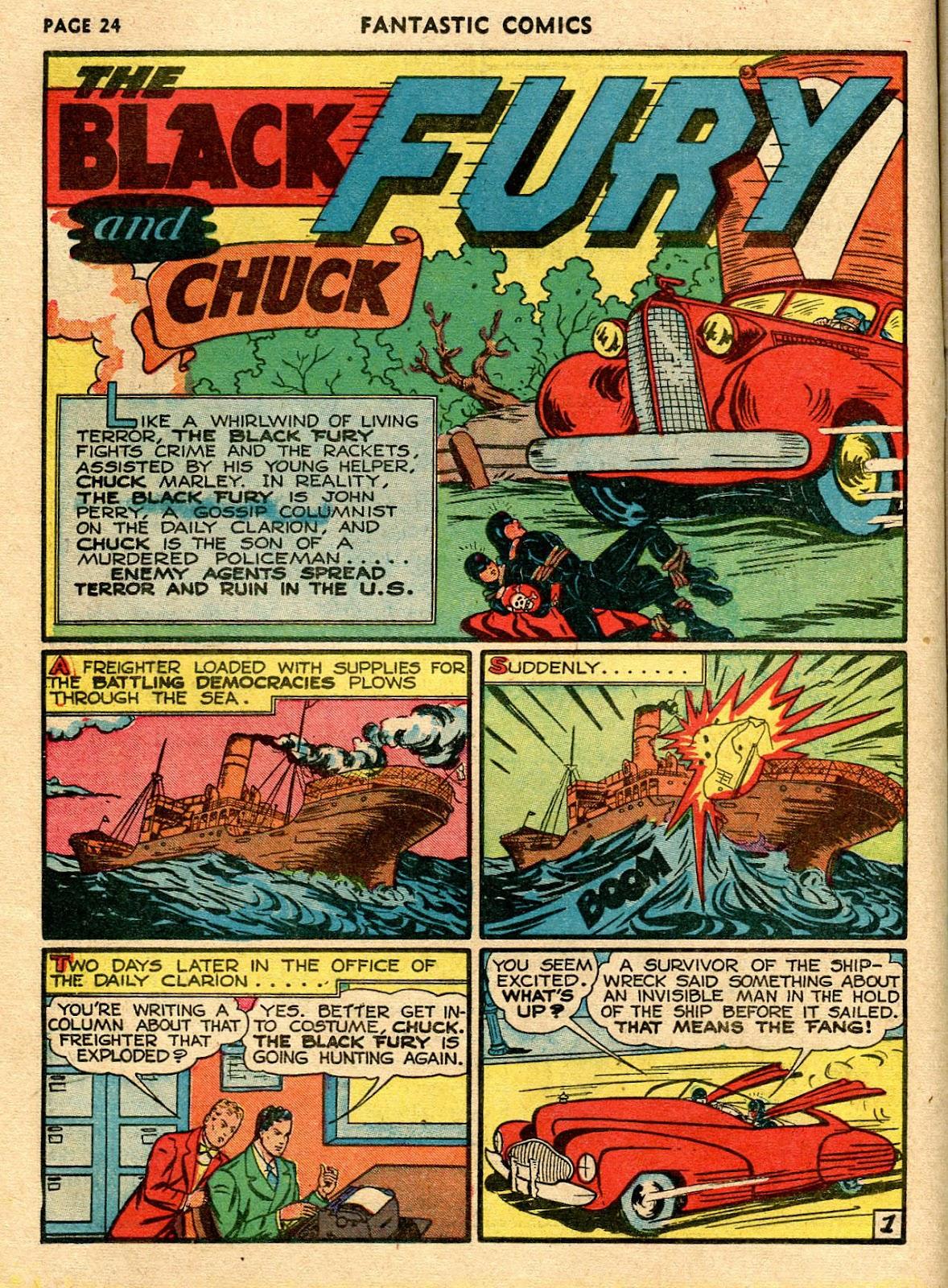 Read online Fantastic Comics comic -  Issue #21 - 26