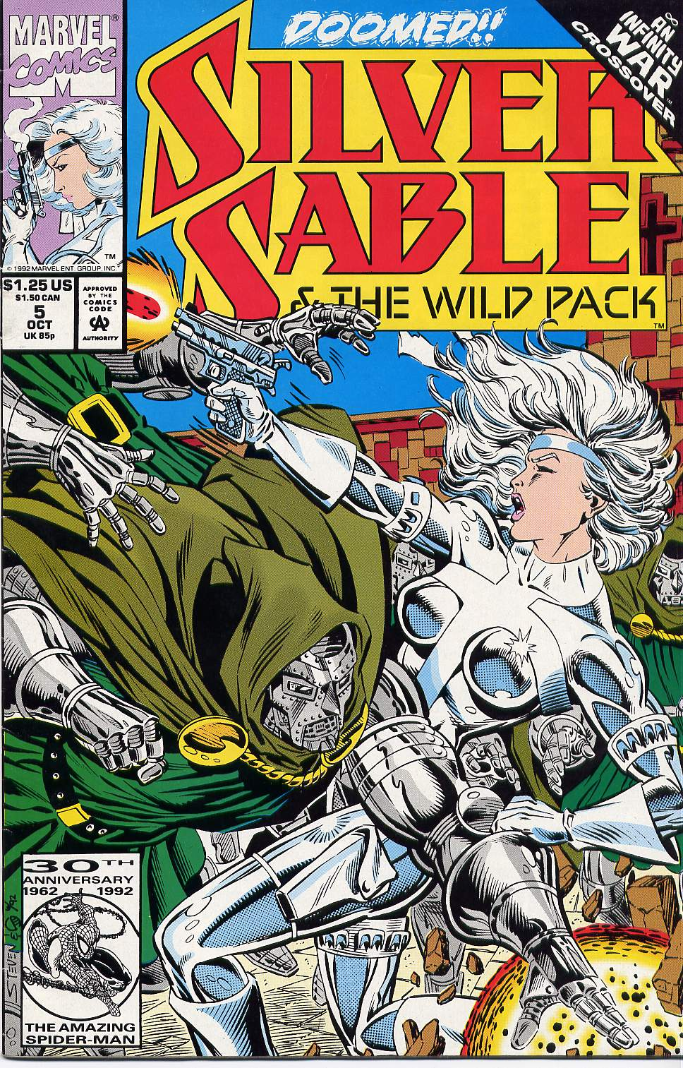 Read online Silver Sable and the Wild Pack comic -  Issue #5 - 1