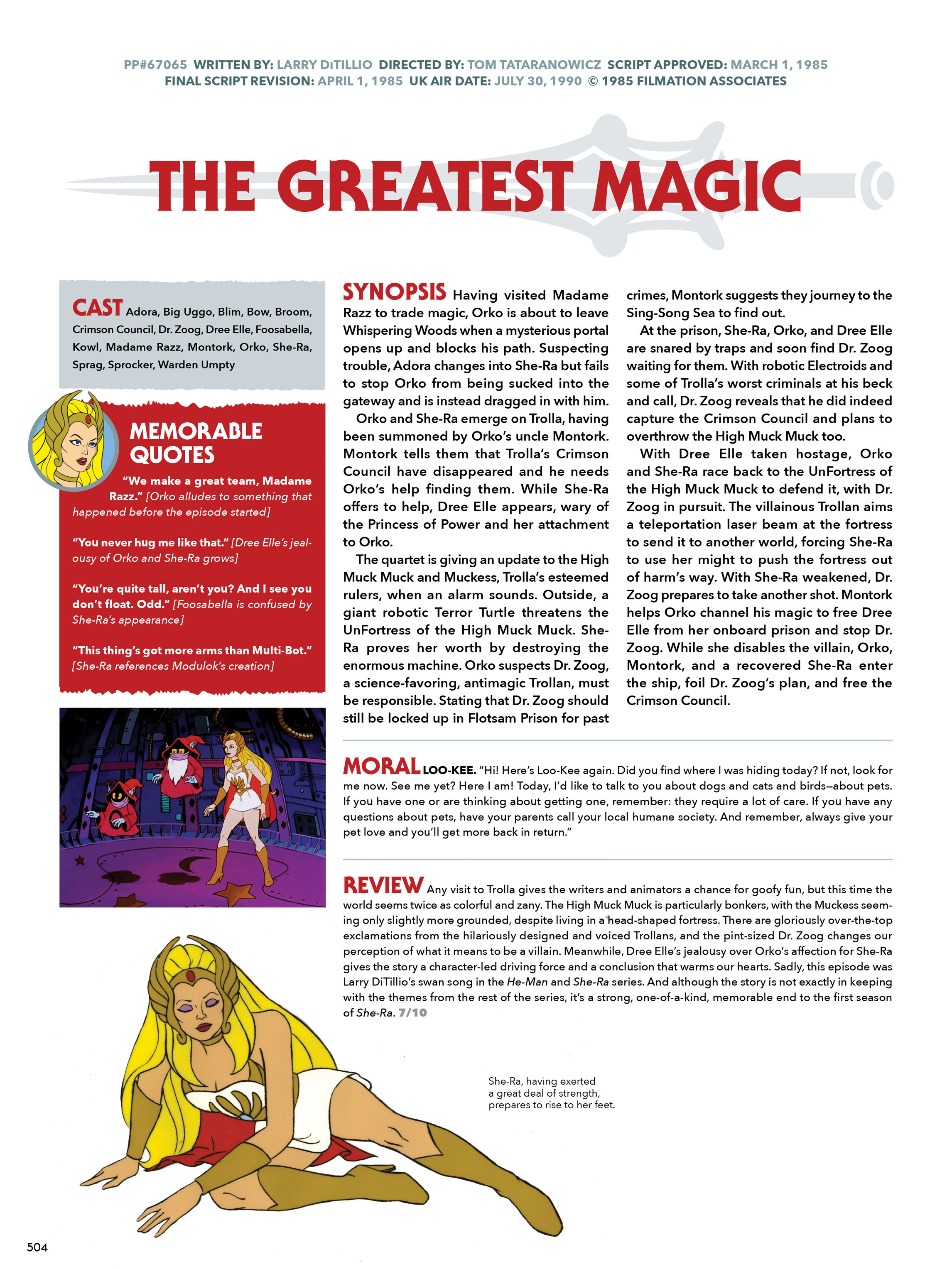 Read online He-Man and She-Ra: A Complete Guide to the Classic Animated Adventures comic -  Issue # TPB (Part 3) - 104