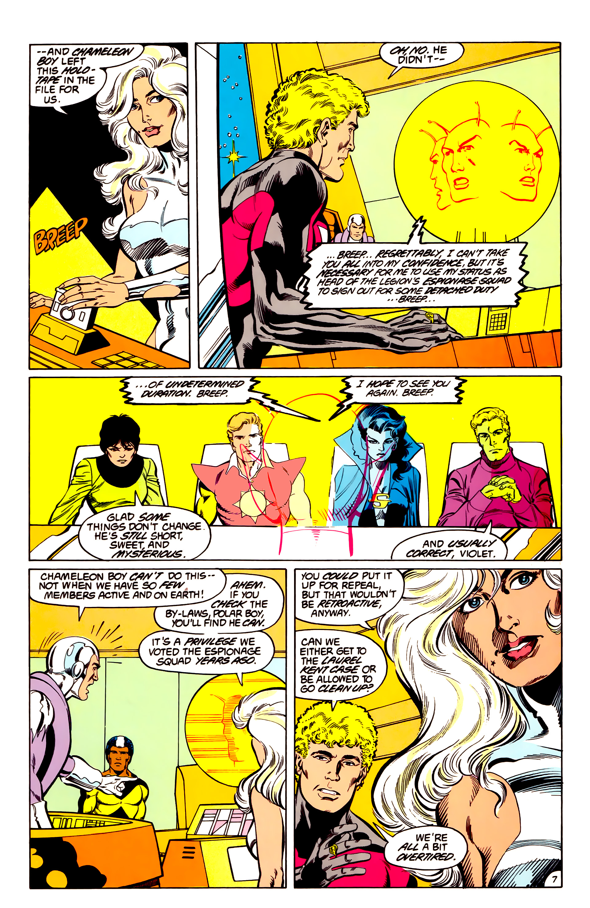 Legion of Super-Heroes (1984) 43 Page 7