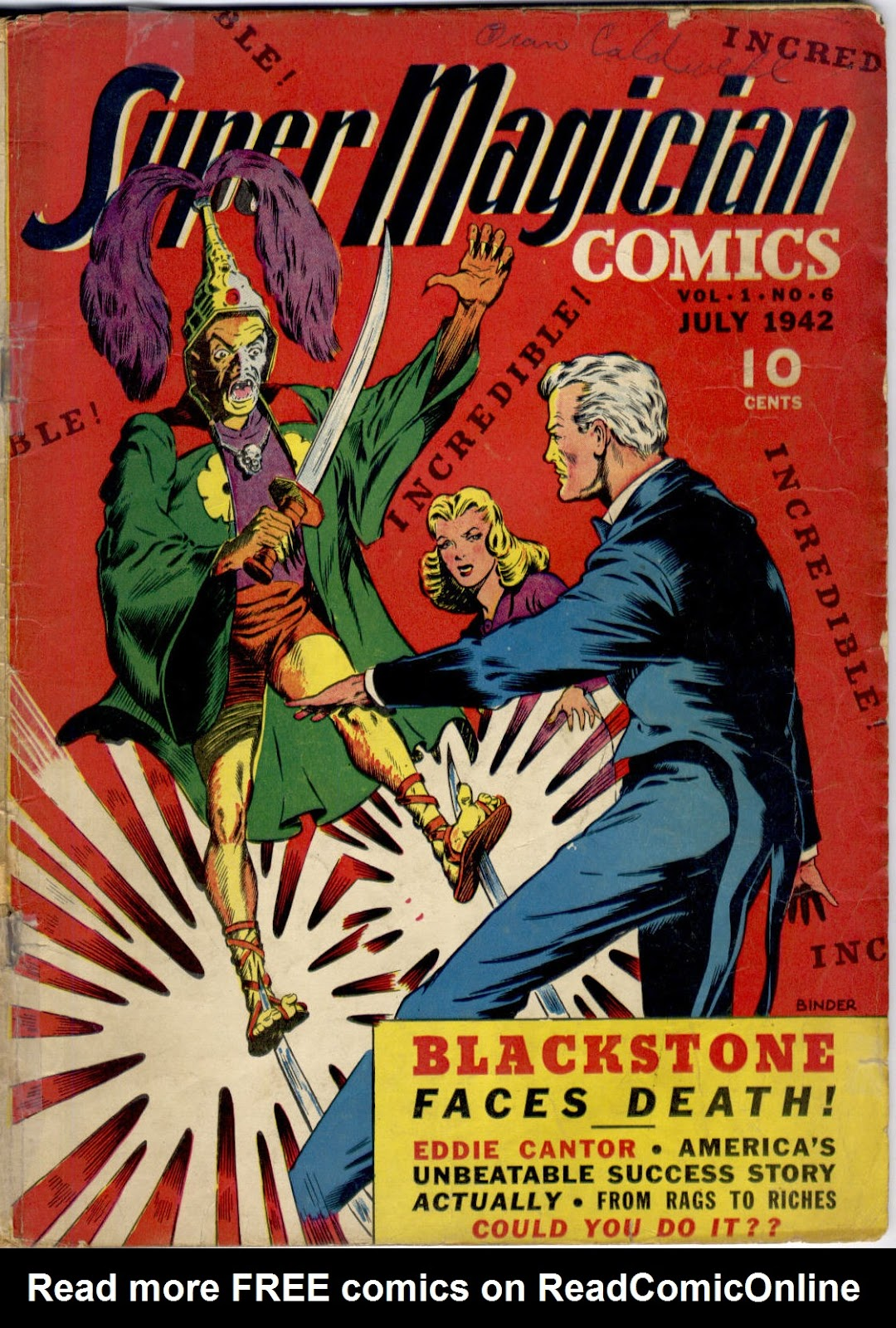 Read online Super-Magician Comics comic -  Issue #6 - 1