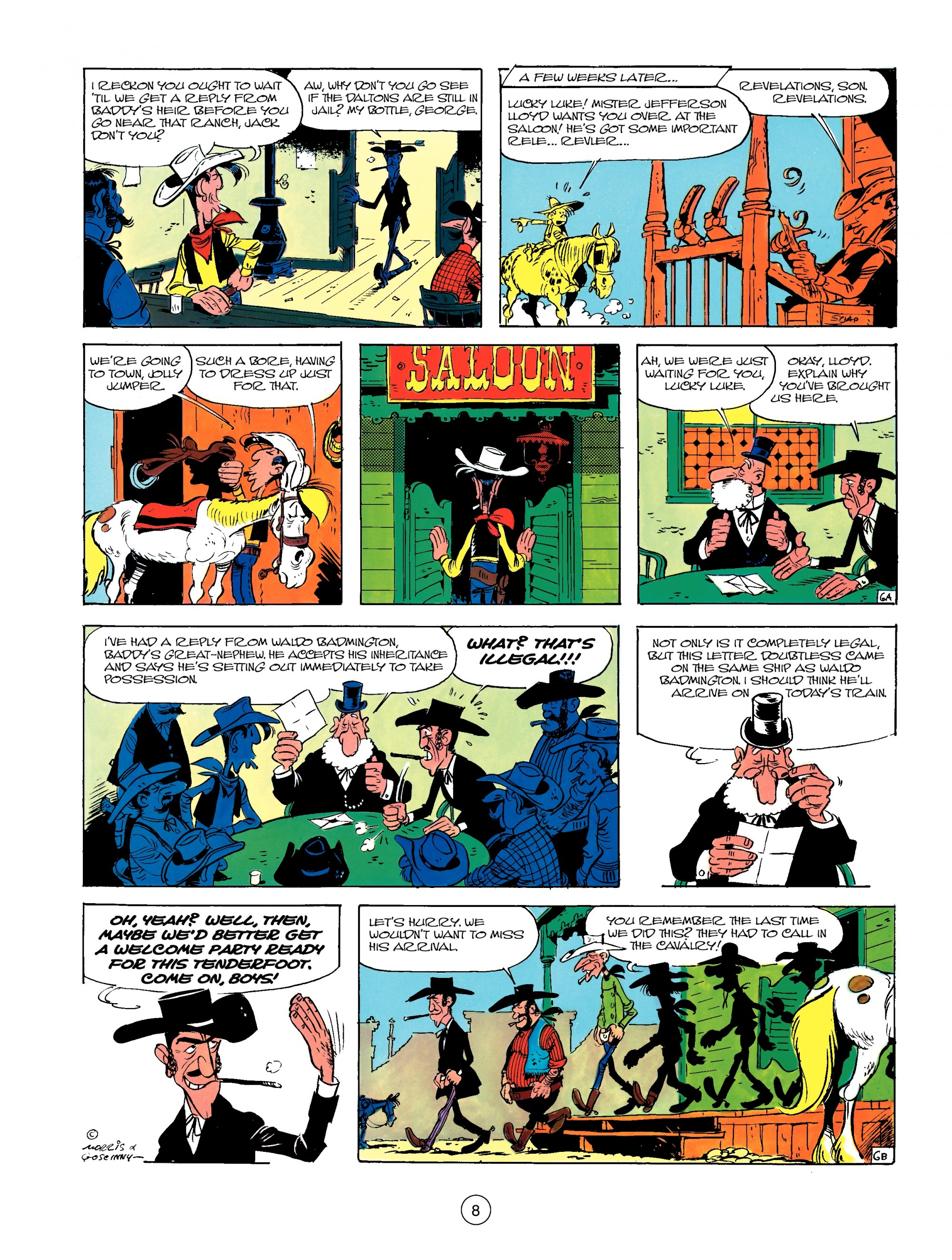 Read online A Lucky Luke Adventure comic -  Issue #13 - 8