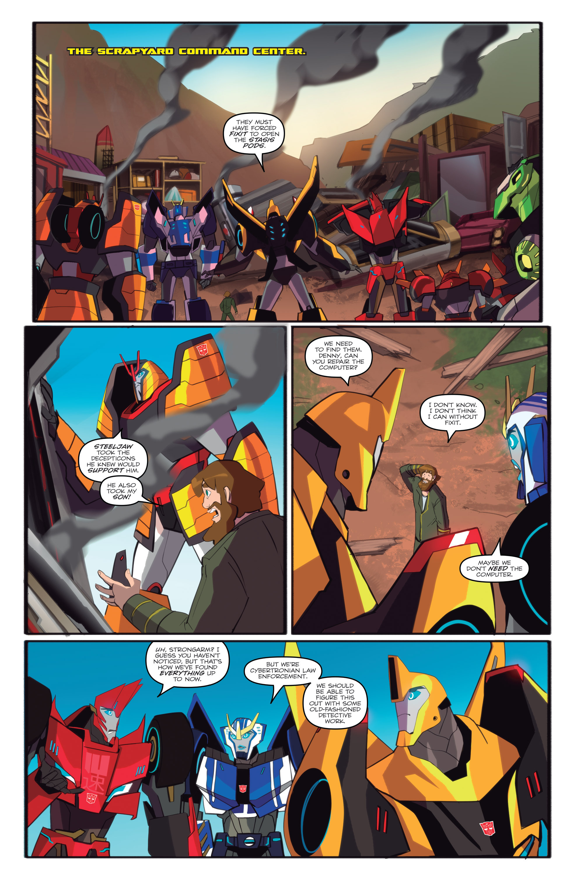 Read online Transformers: Robots In Disguise (2015) comic -  Issue #6 - 10