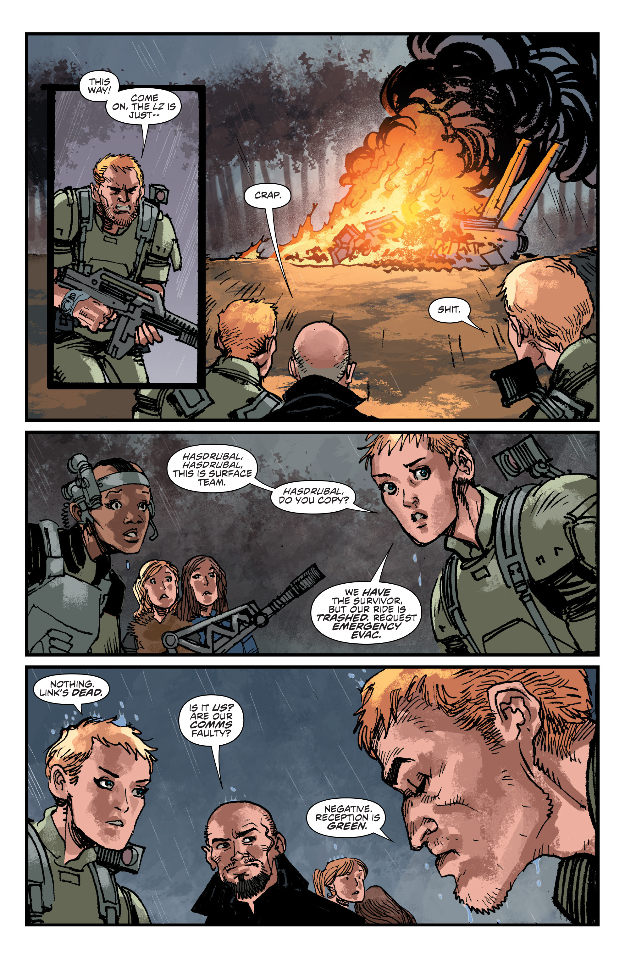 Read online Aliens: Life And Death comic -  Issue #4 - 23