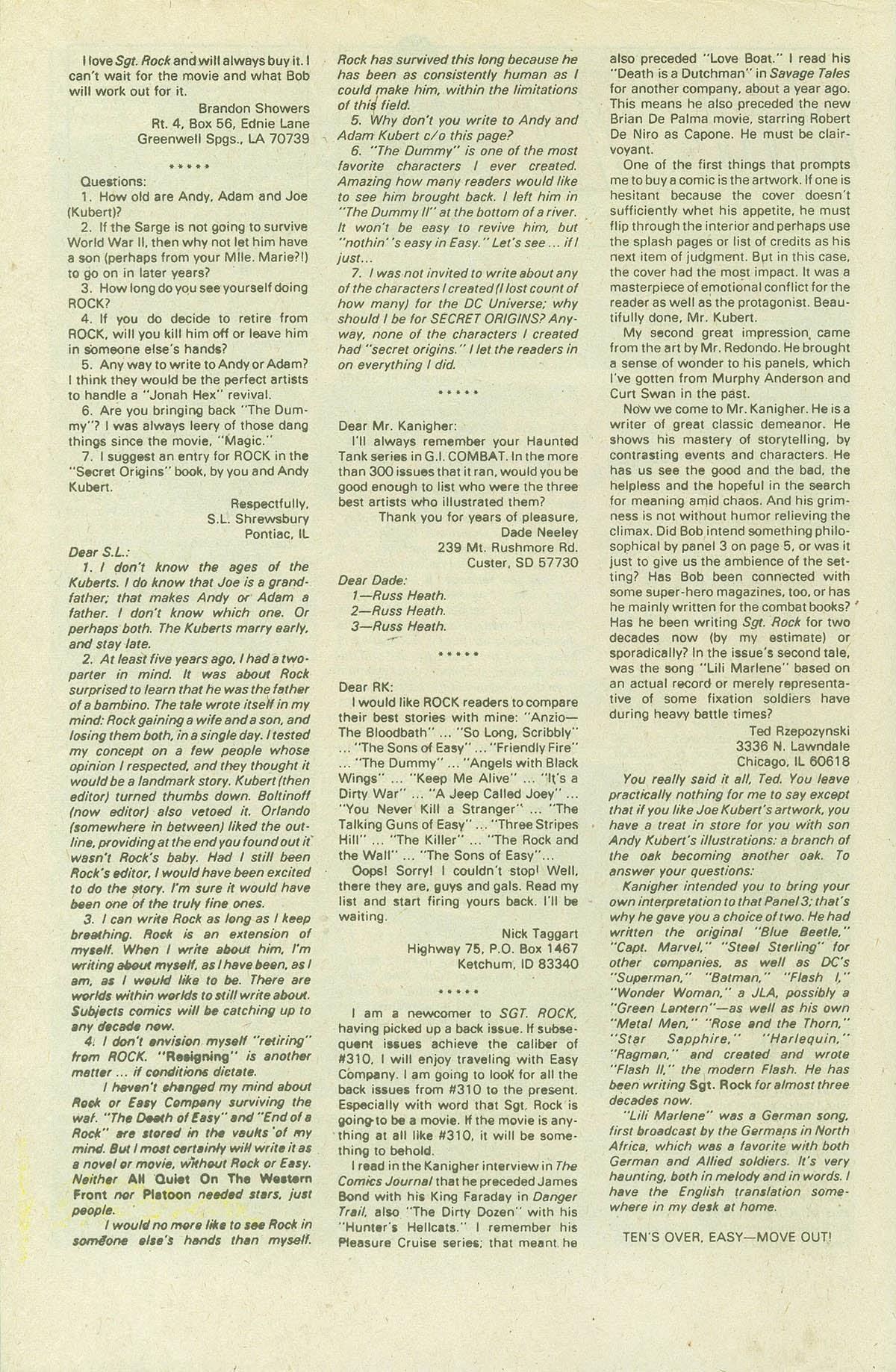 Read online Sgt. Rock comic -  Issue #420 - 33
