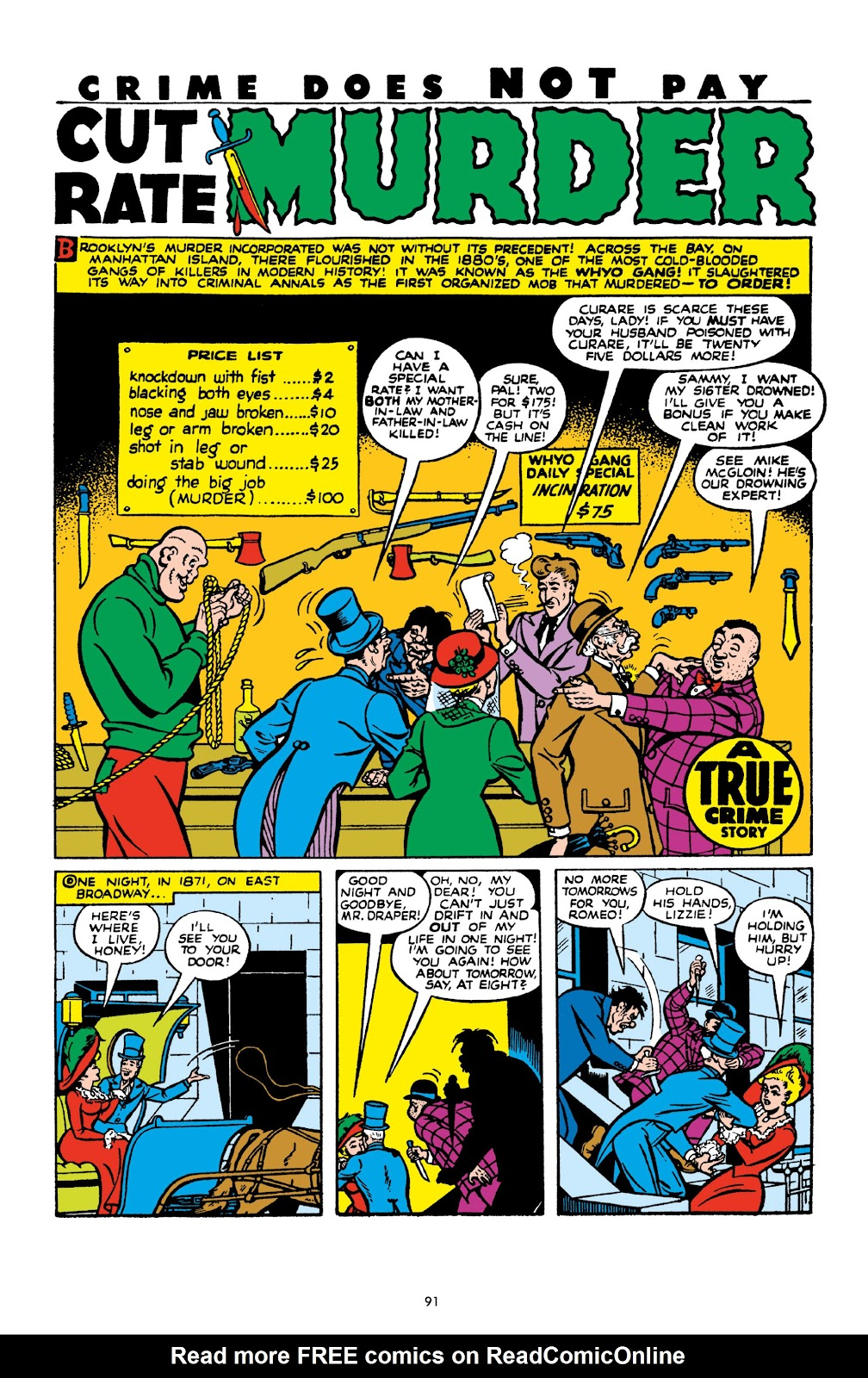 Read online Crime Does Not Pay Archives comic -  Issue # TPB 10 (Part 1) - 92