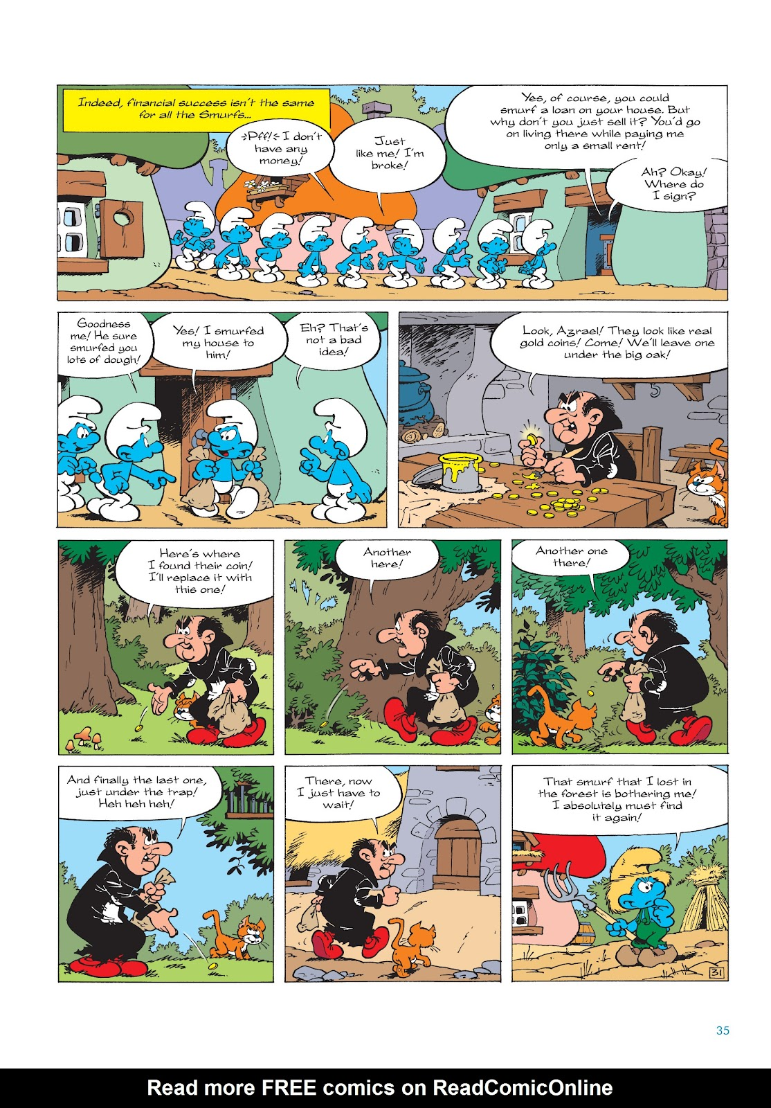 Read online The Smurfs comic -  Issue #18 - 35