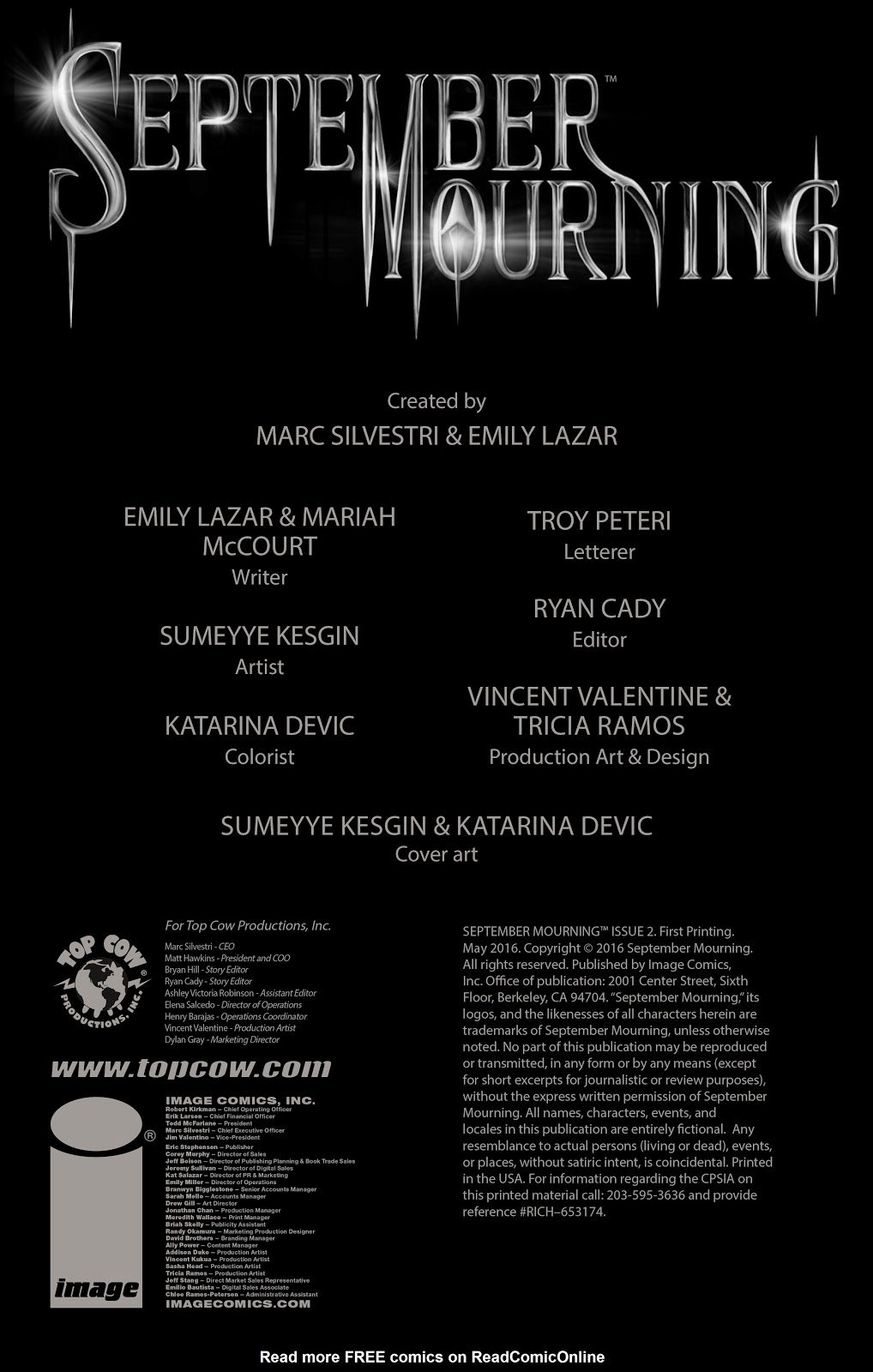 Read online September Mourning Volume 1 comic -  Issue #2 - 4