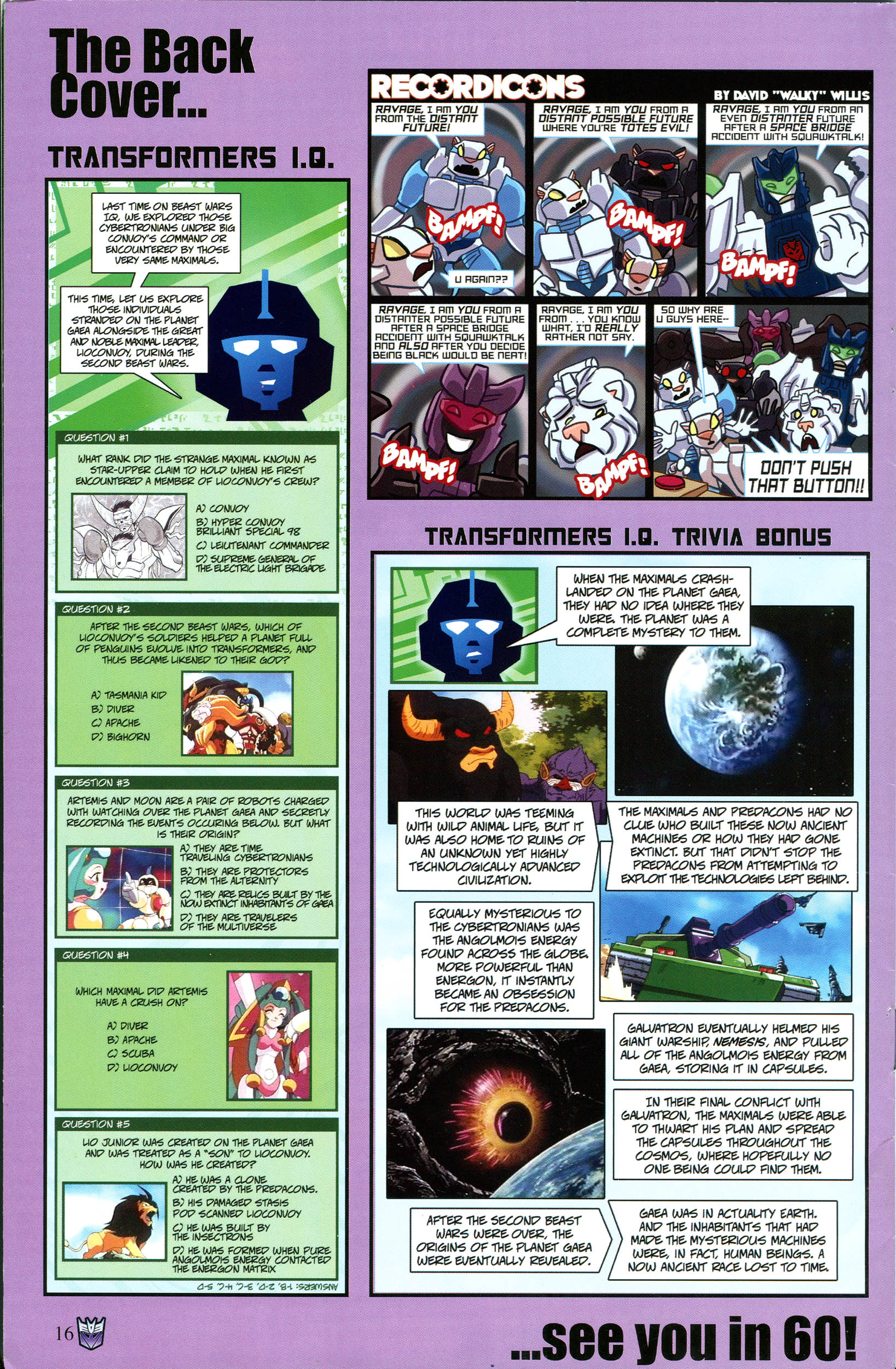Read online Transformers: Collectors' Club comic -  Issue #53 - 16
