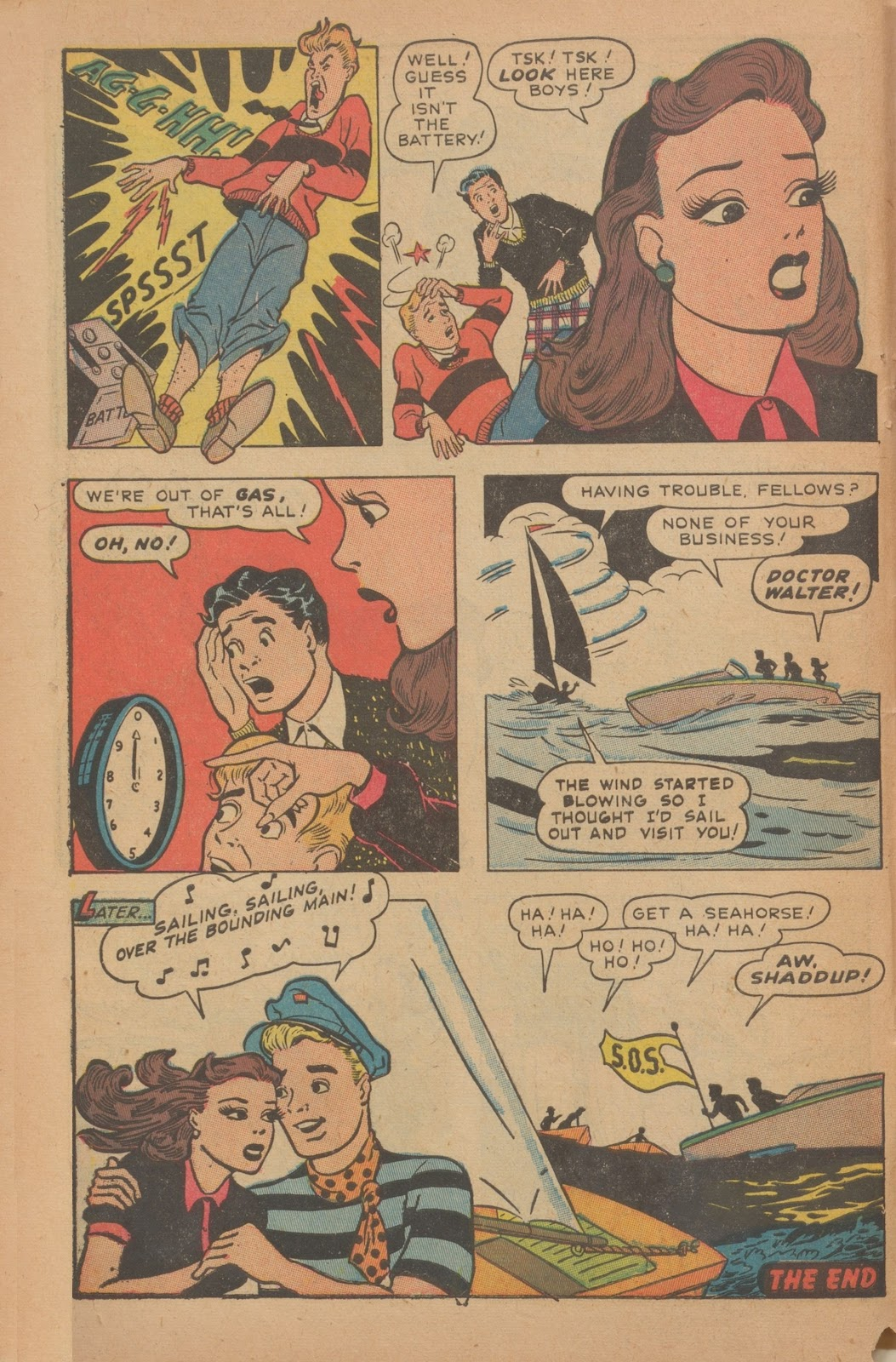 Read online Nellie The Nurse (1945) comic -  Issue #9 - 10