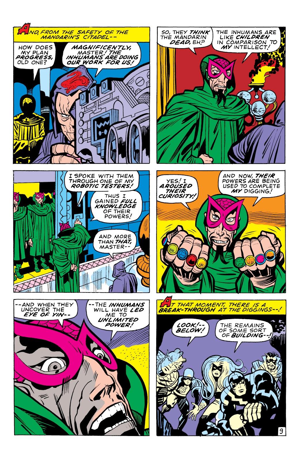 Read online Marvel Masterworks: The Inhumans comic -  Issue # TPB 1 (Part 1) - 100