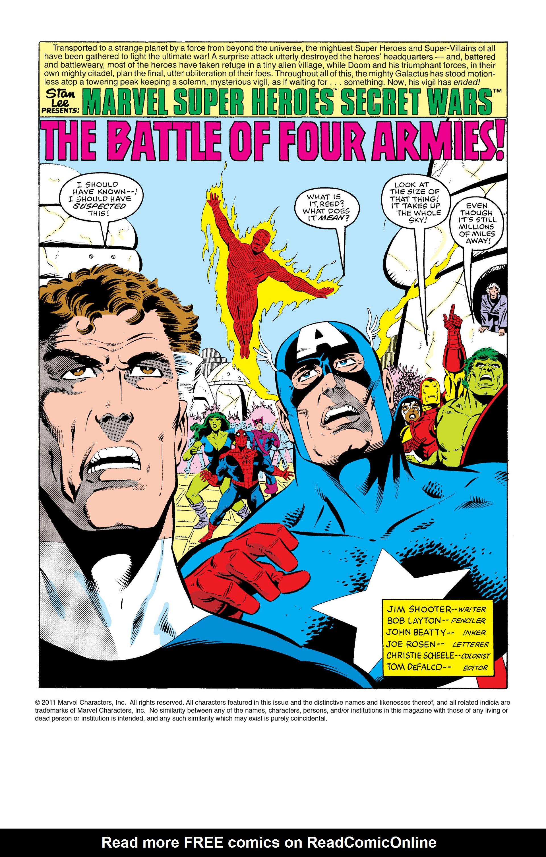 Read online Secret Wars (1985) comic -  Issue #5 - 2