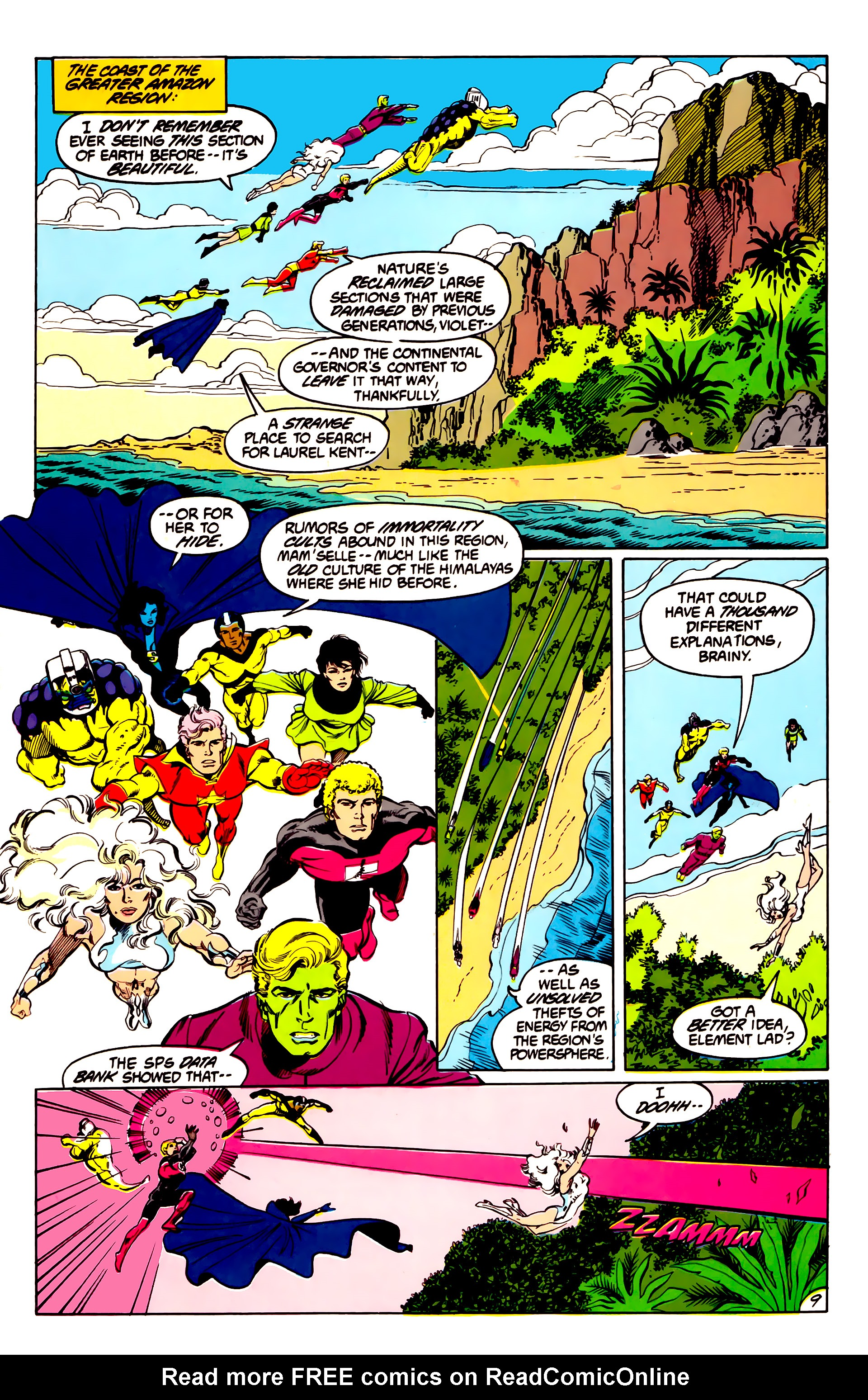 Legion of Super-Heroes (1984) 43 Page 9