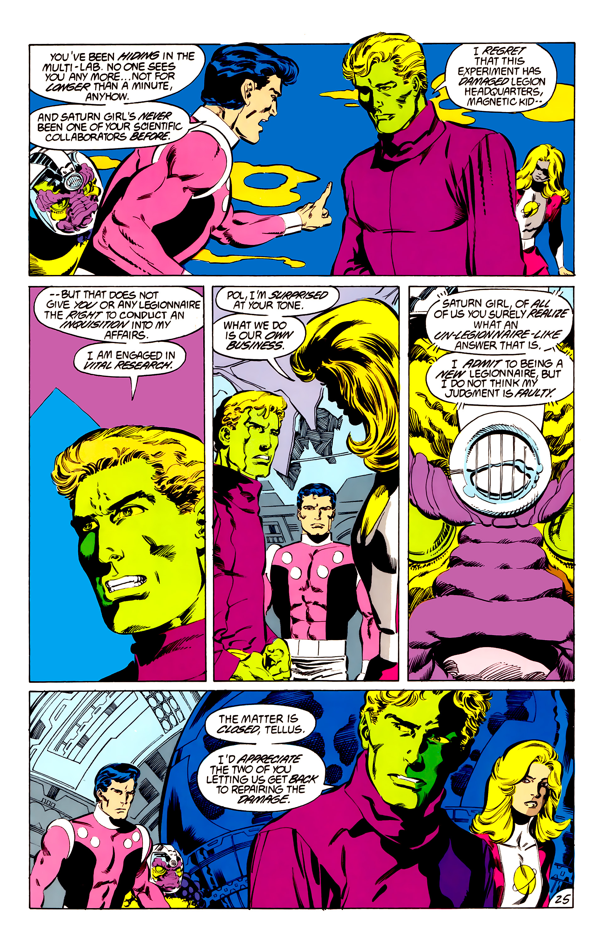 Legion of Super-Heroes (1984) 48 Page 25