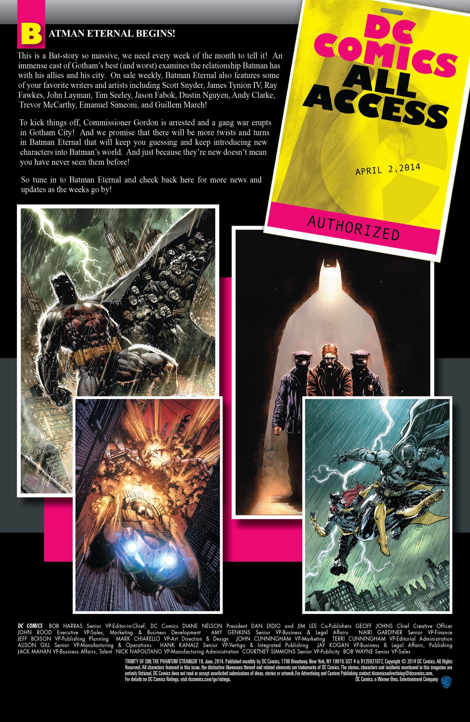 Read online Trinity of Sin: The Phantom Stranger comic -  Issue #18 - 22
