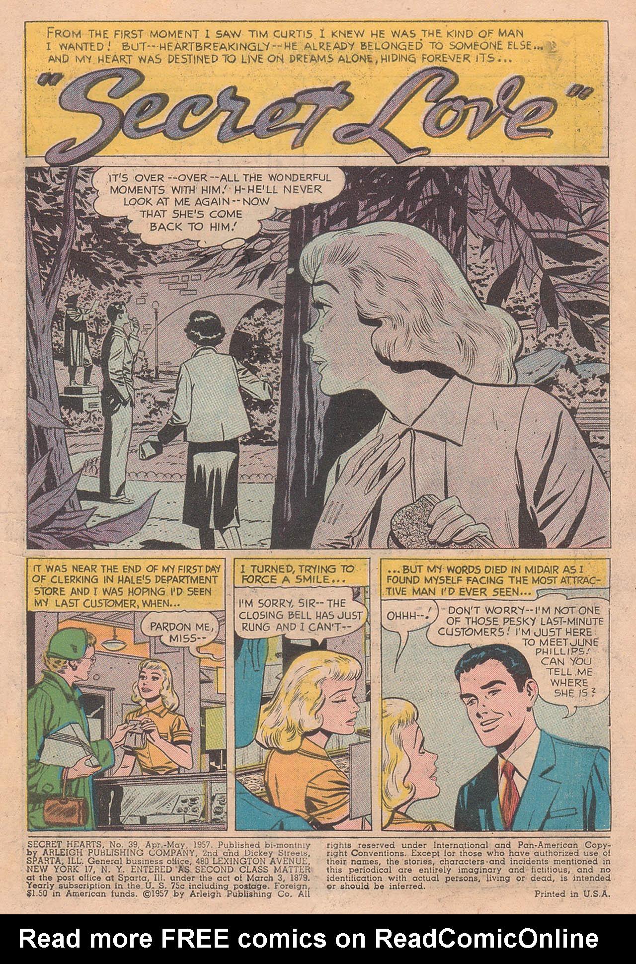 Read online Secret Hearts comic -  Issue #39 - 3