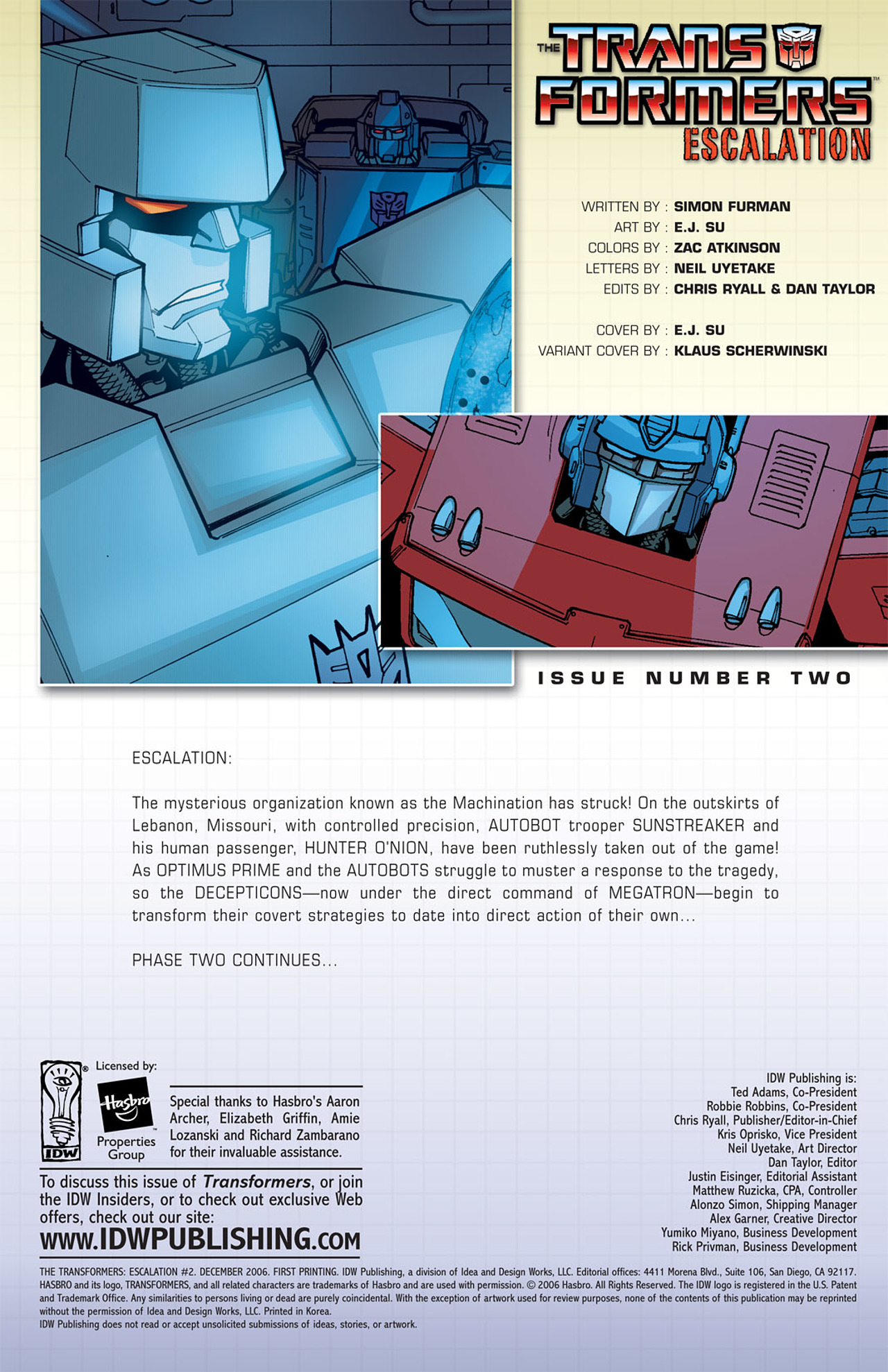 The Transformers: Escalation 2 Page 2
