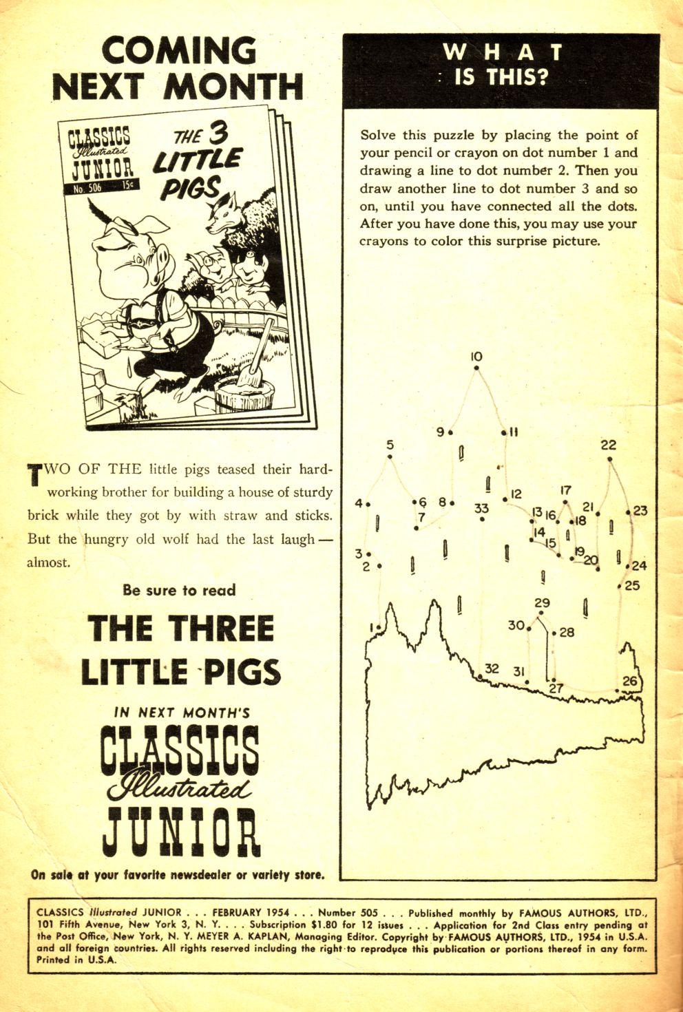Classics Illustrated Junior 505 Page 2