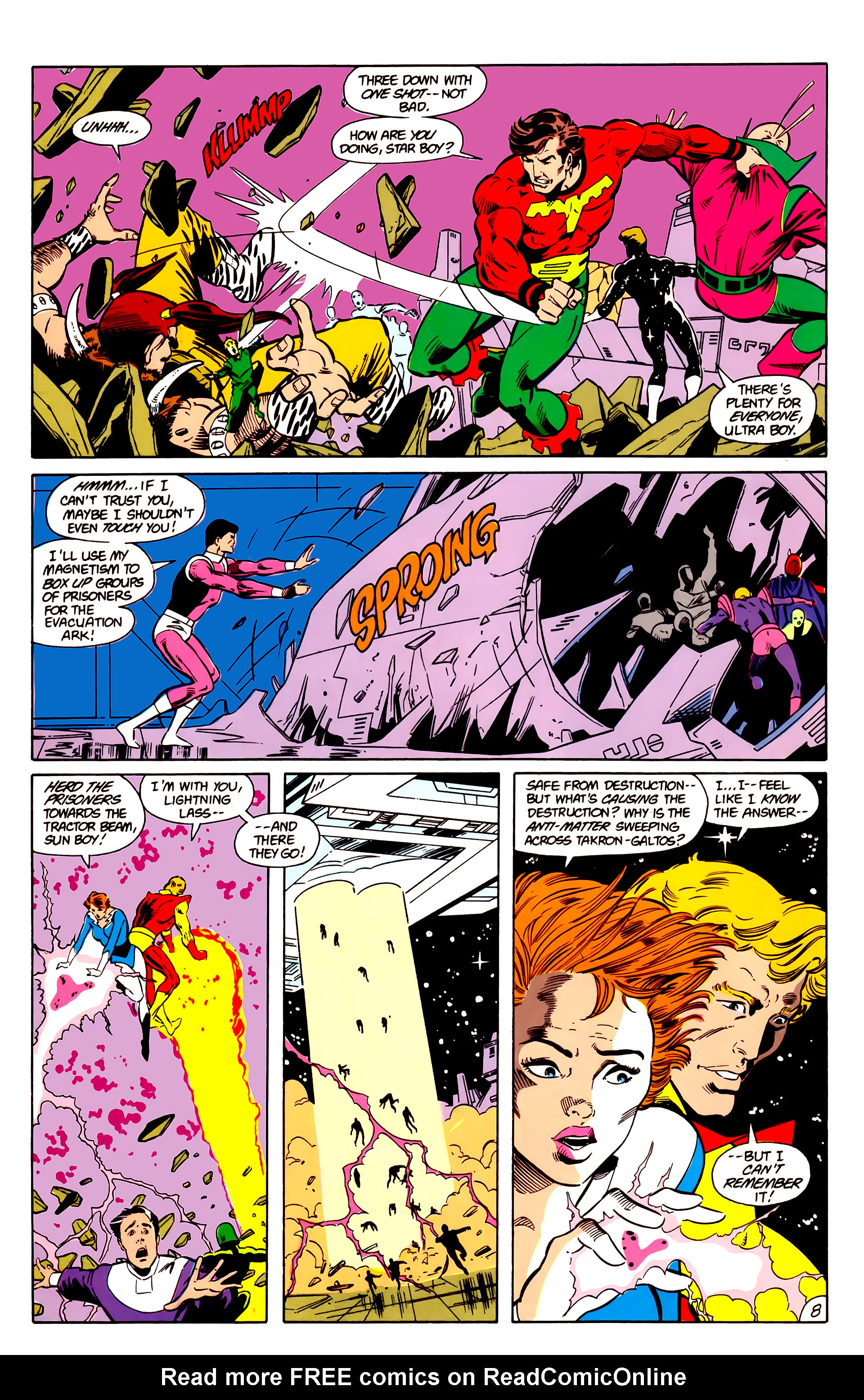 Legion of Super-Heroes (1984) 18 Page 8