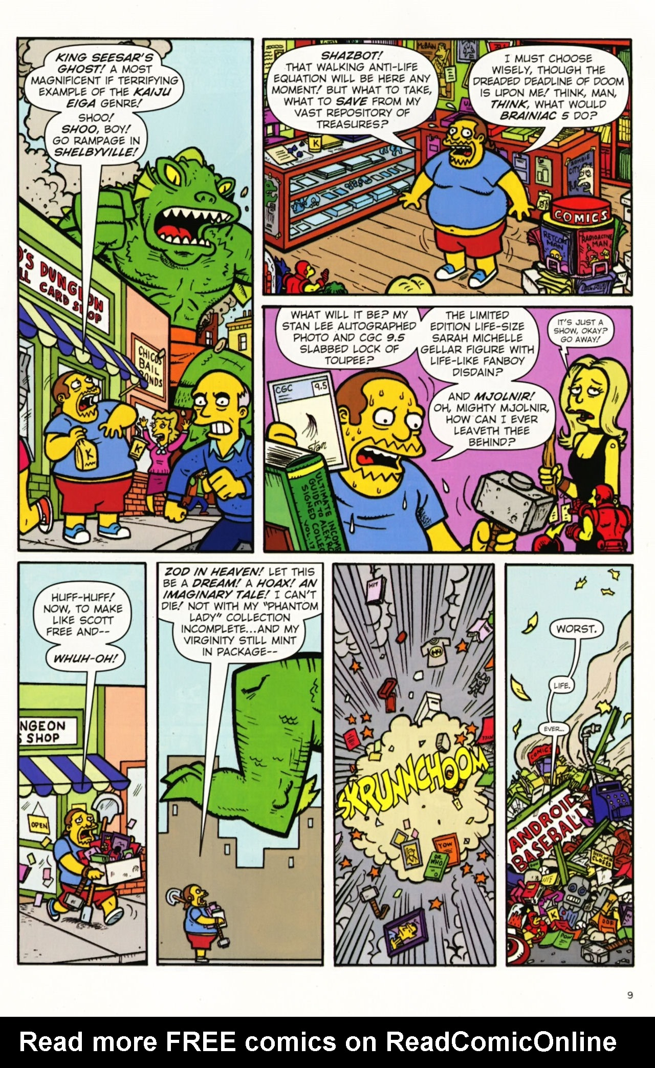 Read online Treehouse of Horror comic -  Issue #16 - 12