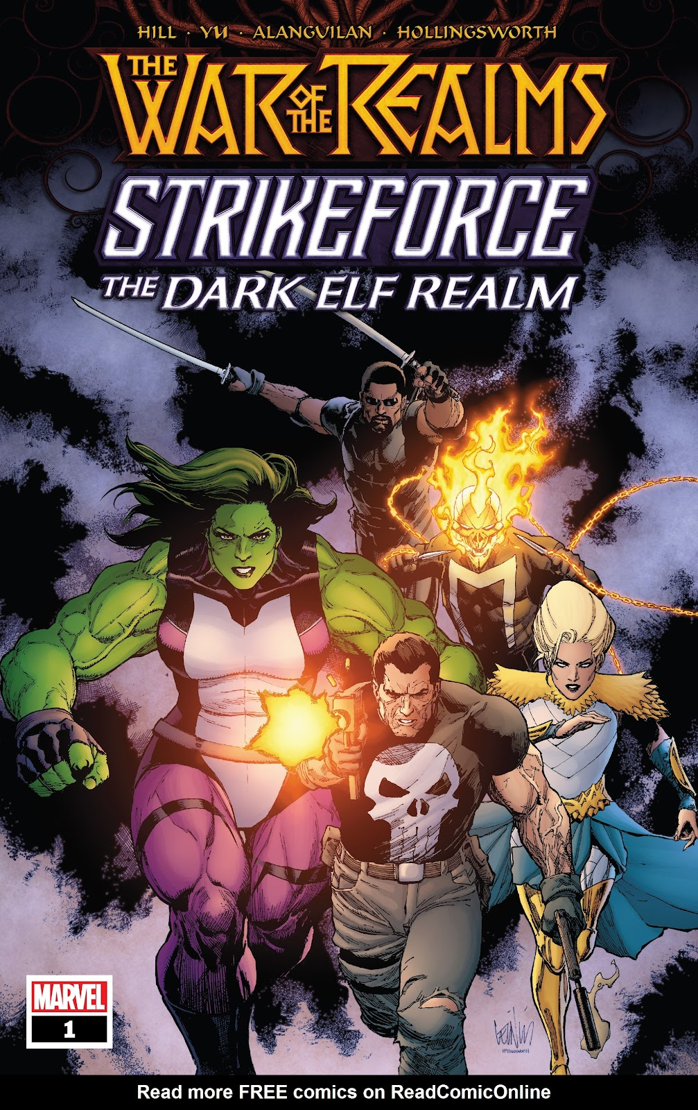 Read online War Of The Realms Strikeforce comic -  Issue # The Dark Elf Realm - 1