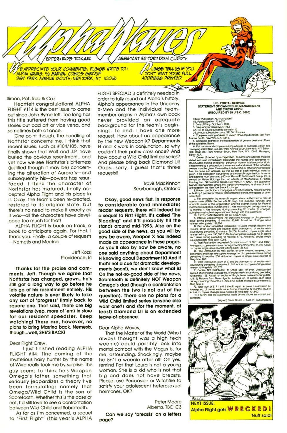 Read online Alpha Flight (1983) comic -  Issue #118 - 26