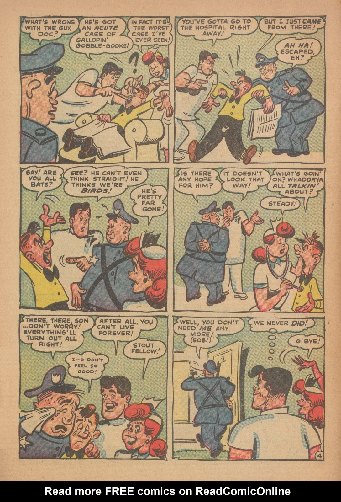 Read online Nellie The Nurse (1945) comic -  Issue #34 - 6