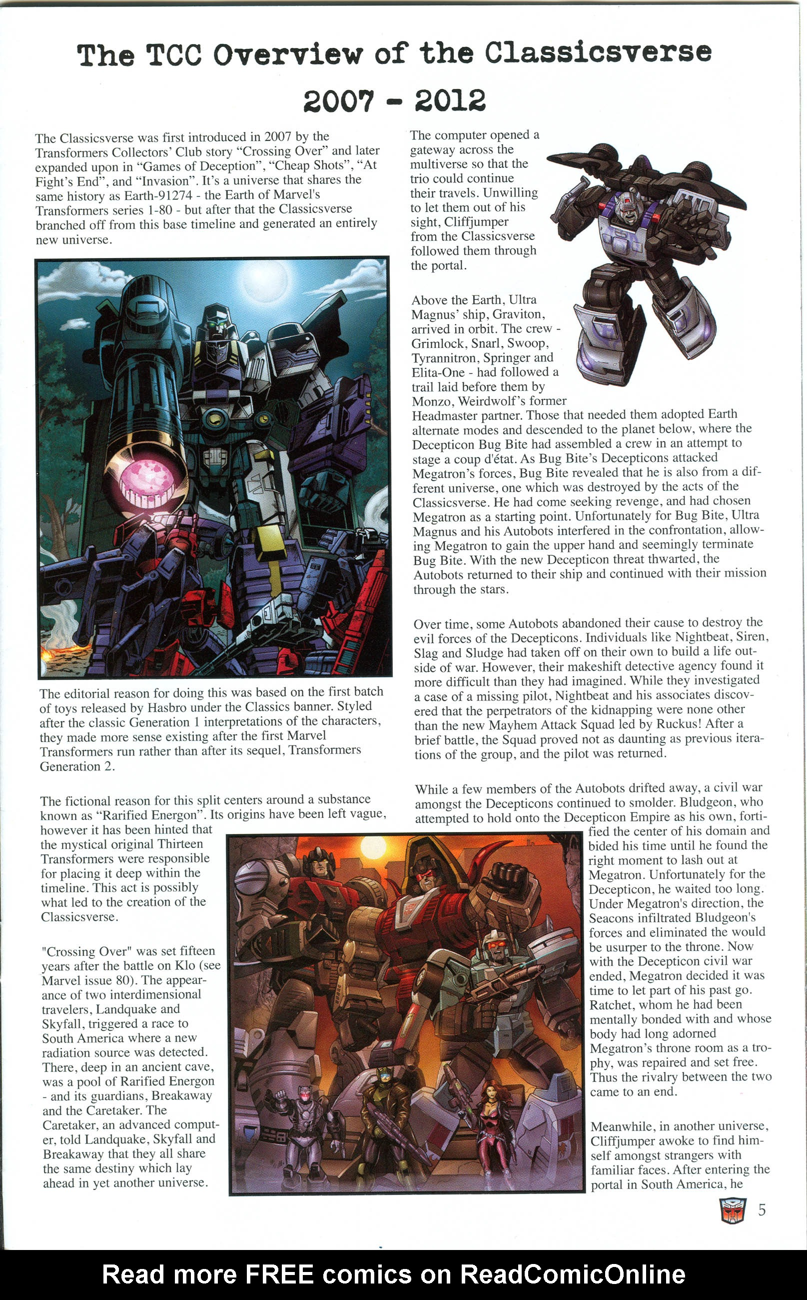 Read online Transformers: Collectors' Club comic -  Issue #49 - 5