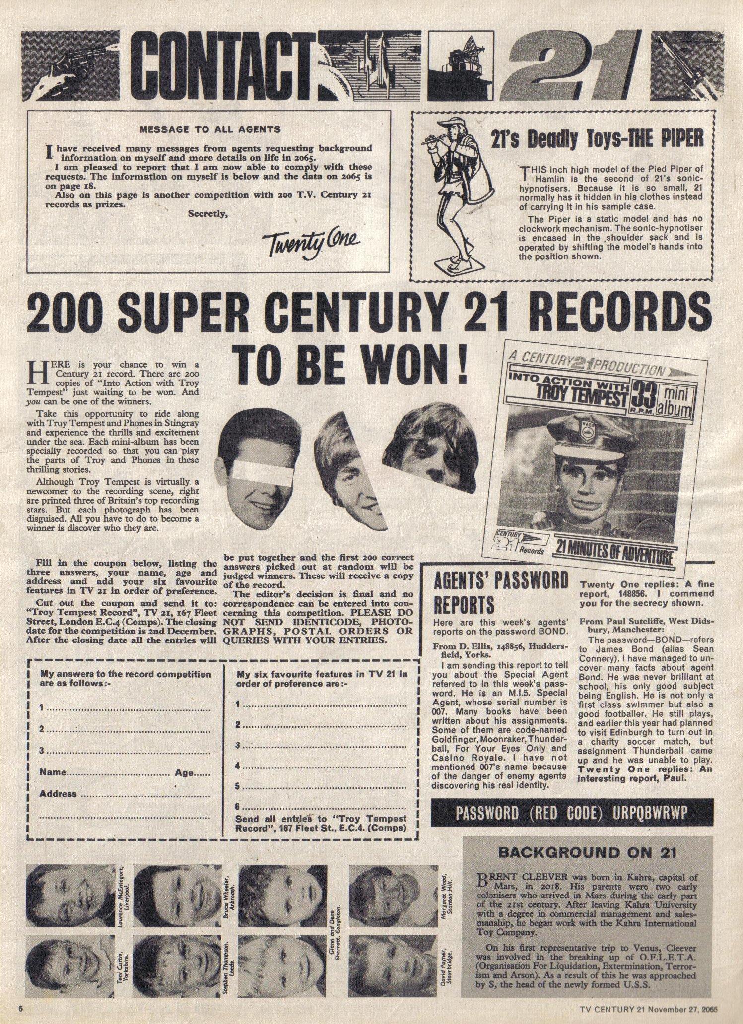 Read online TV Century 21 (TV 21) comic -  Issue #45 - 6
