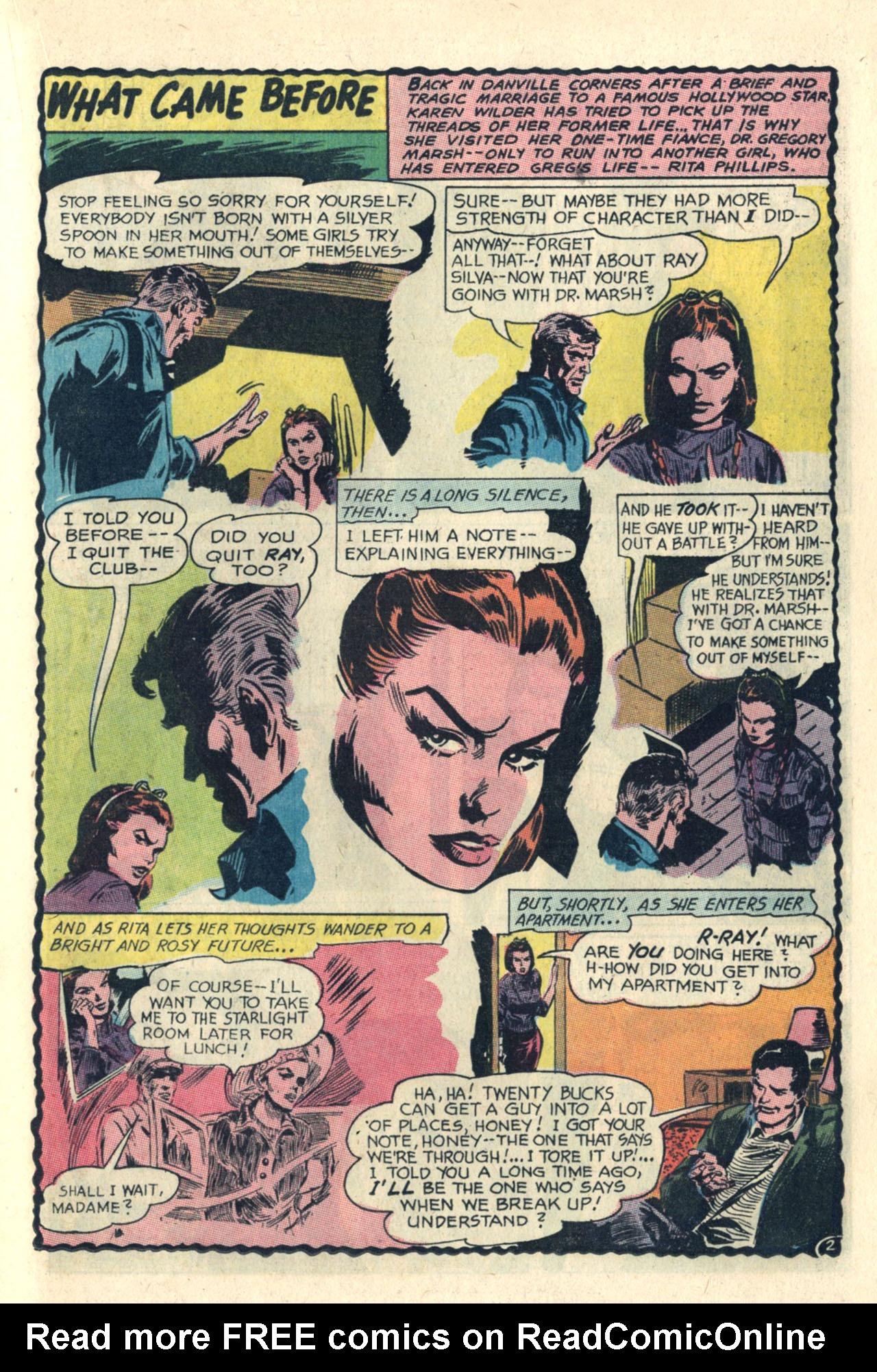 Read online Secret Hearts comic -  Issue #112 - 21