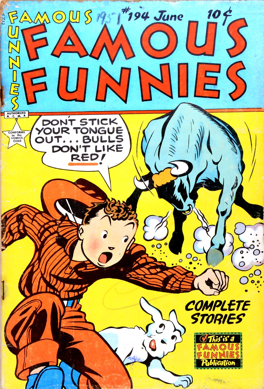 Read online Famous Funnies comic -  Issue #194 - 1