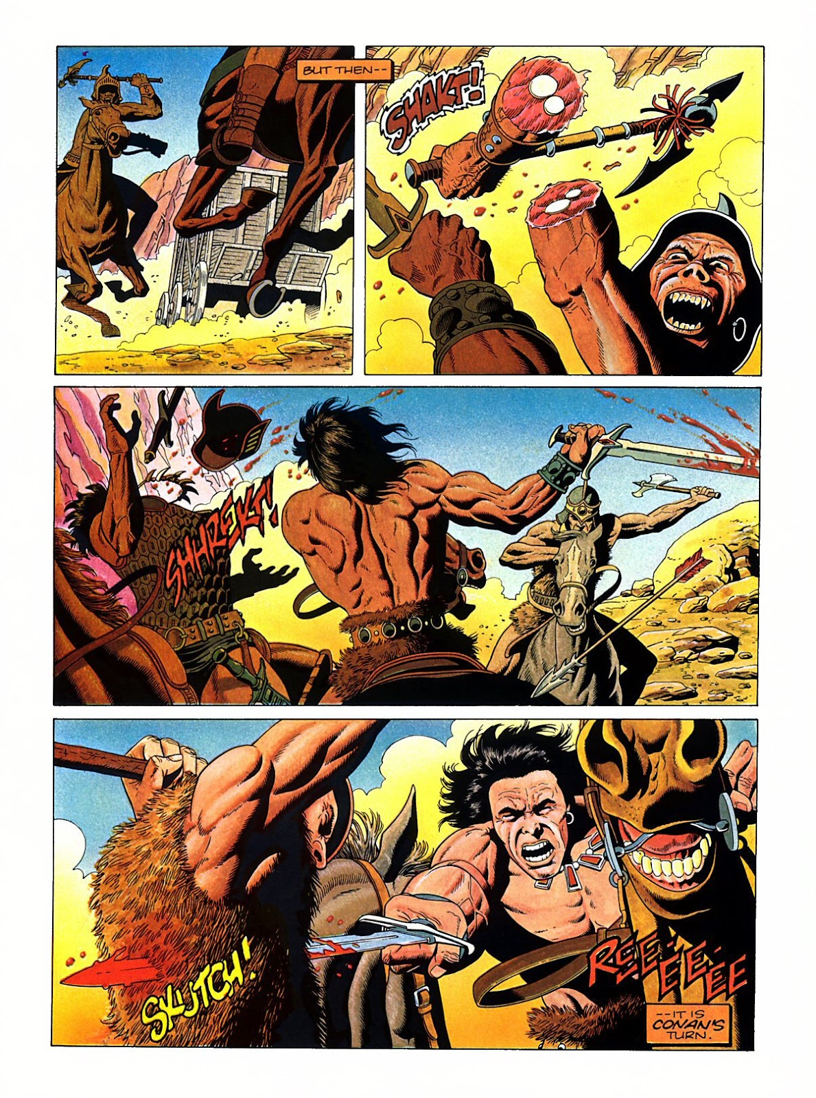 Read online Marvel Graphic Novel: Conan the Barbarian: The Skull of Set comic -  Issue # Full - 14