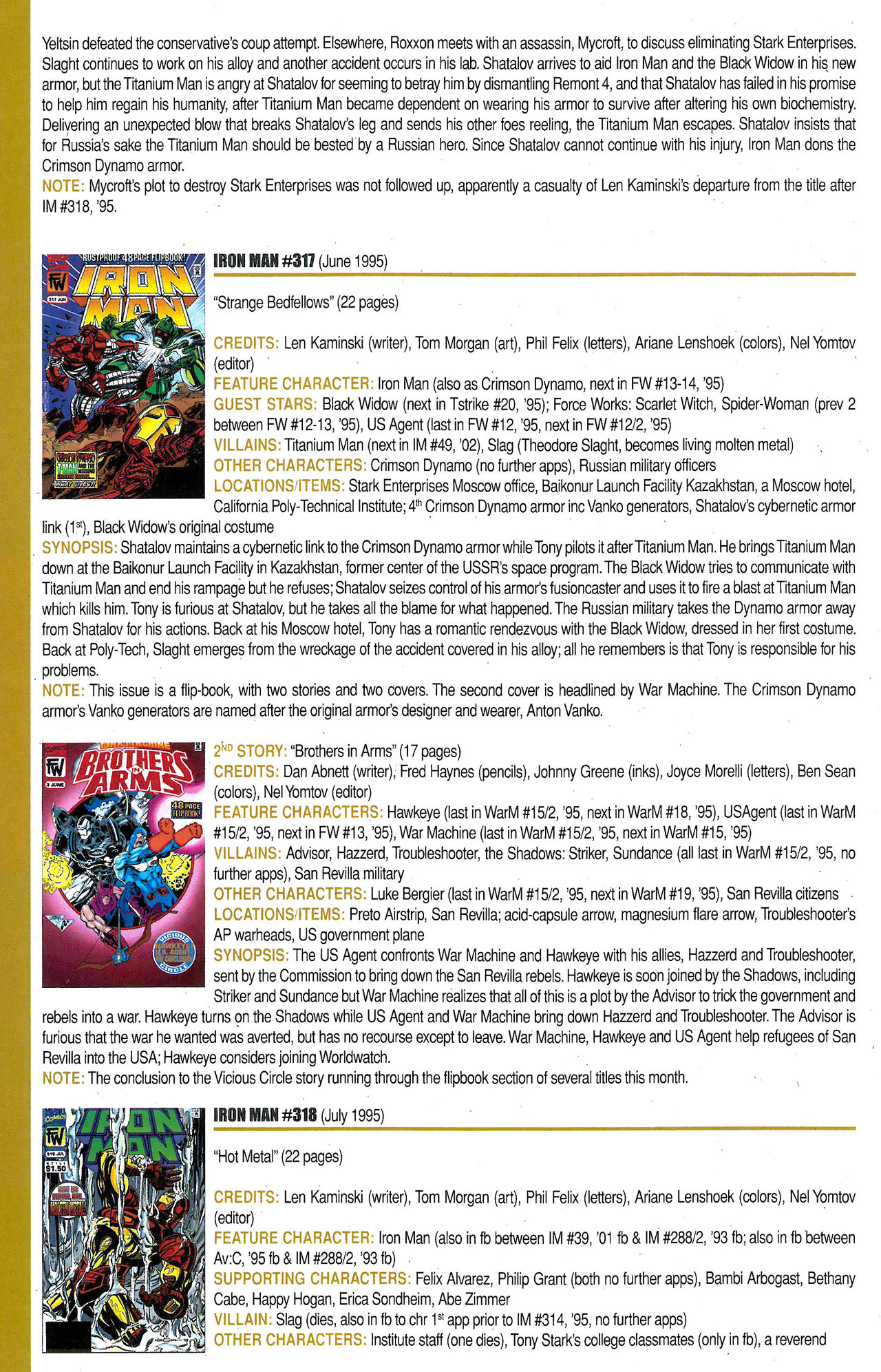 Read online Official Index to the Marvel Universe comic -  Issue #9 - 32